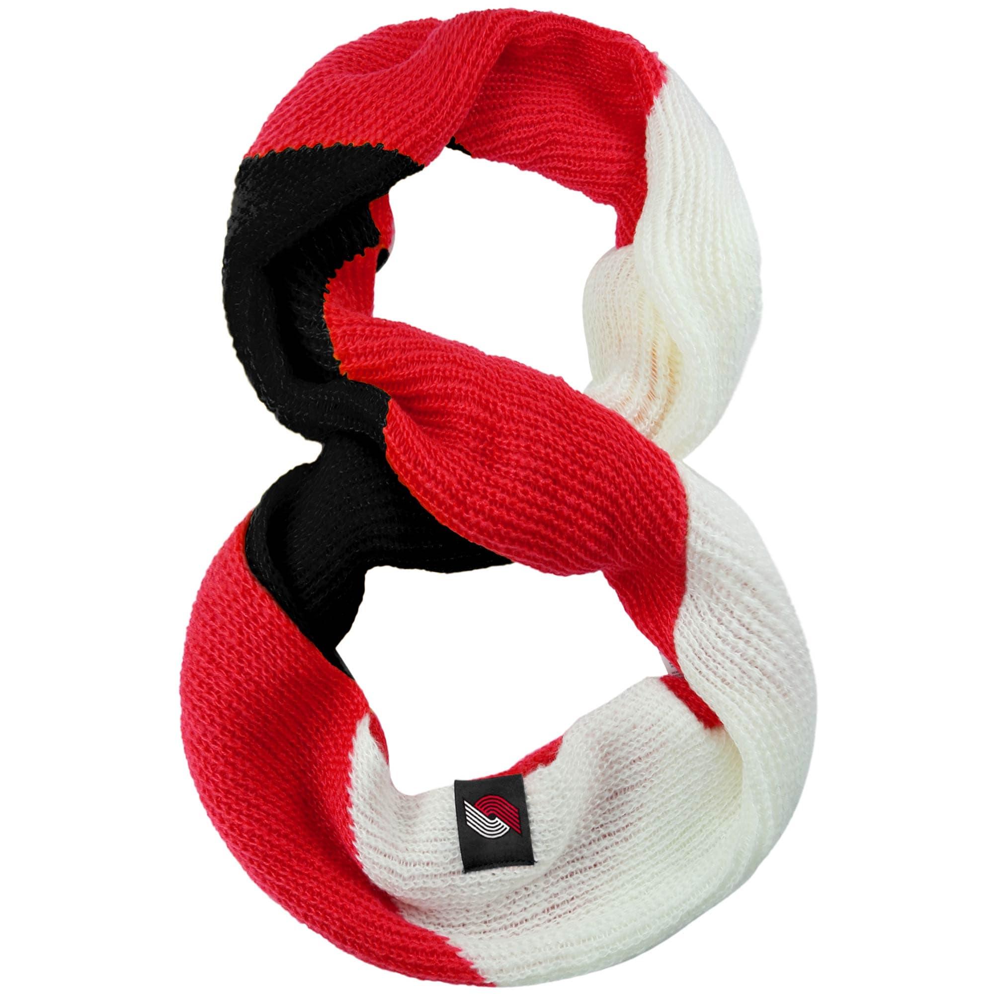 Portland Trail Blazers Women's Color Block Knit Infinity Scarf