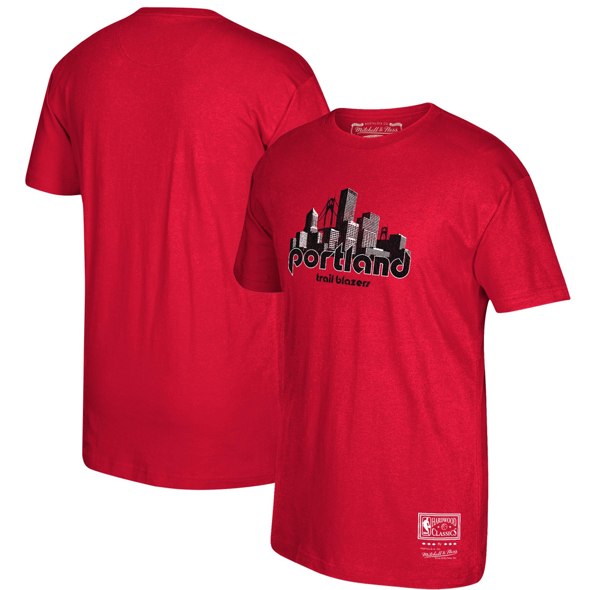 Portland Trail Blazers Mitchell & Ness Hardwood Classics Hometown T-Shirt - Red
