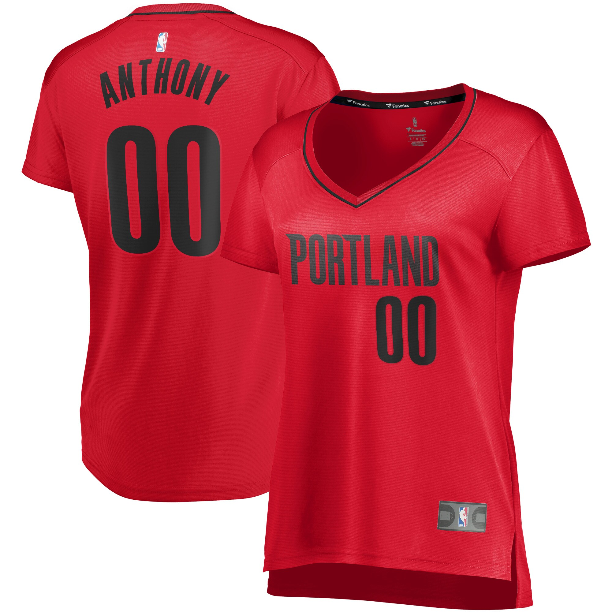 Carmelo Anthony Portland Trail Blazers Fanatics Branded Women's 2019/20 Fast Break Replica Player Jersey Red - Statement Edition