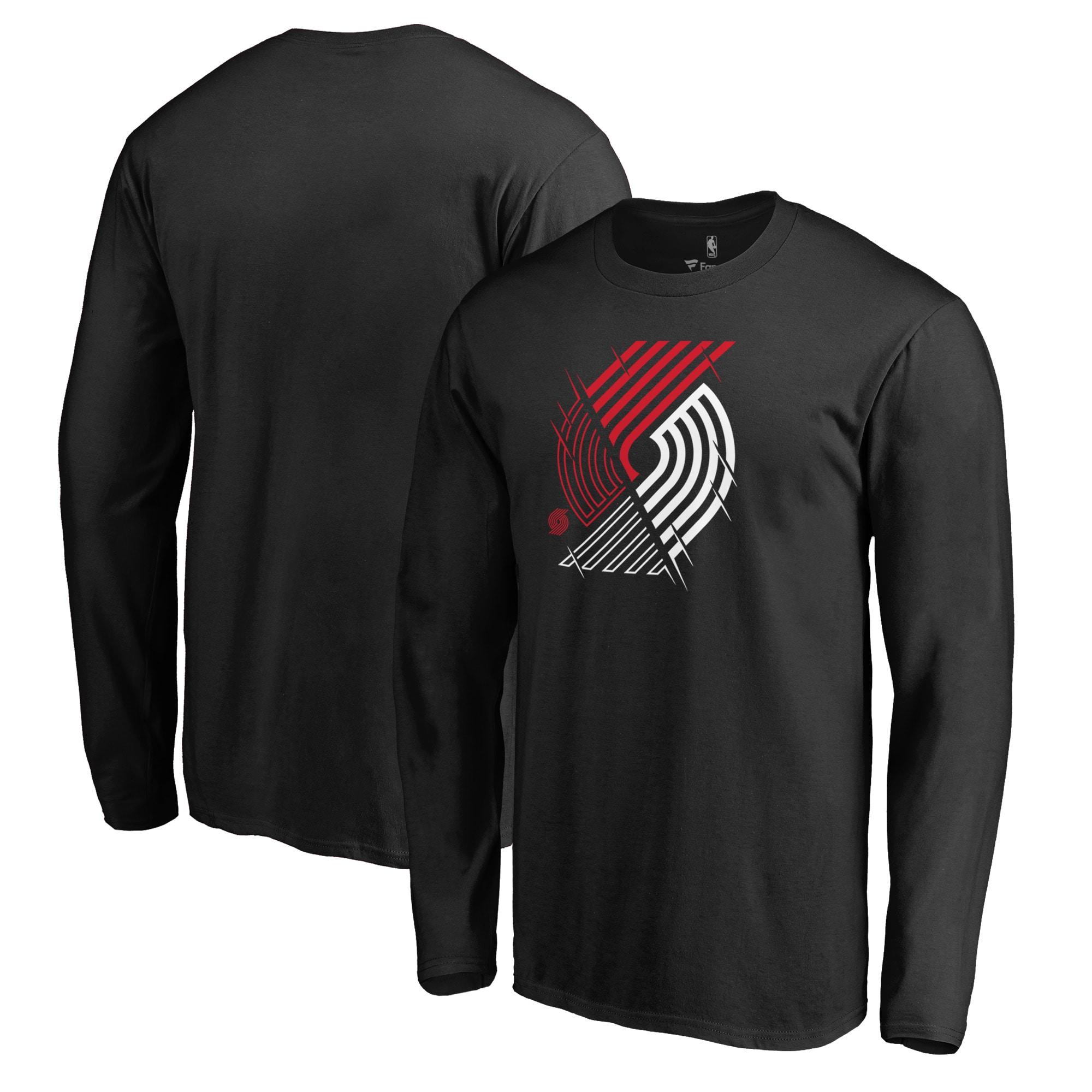Portland Trail Blazers Fanatics Branded X-Ray Long Sleeve T-Shirt - Black
