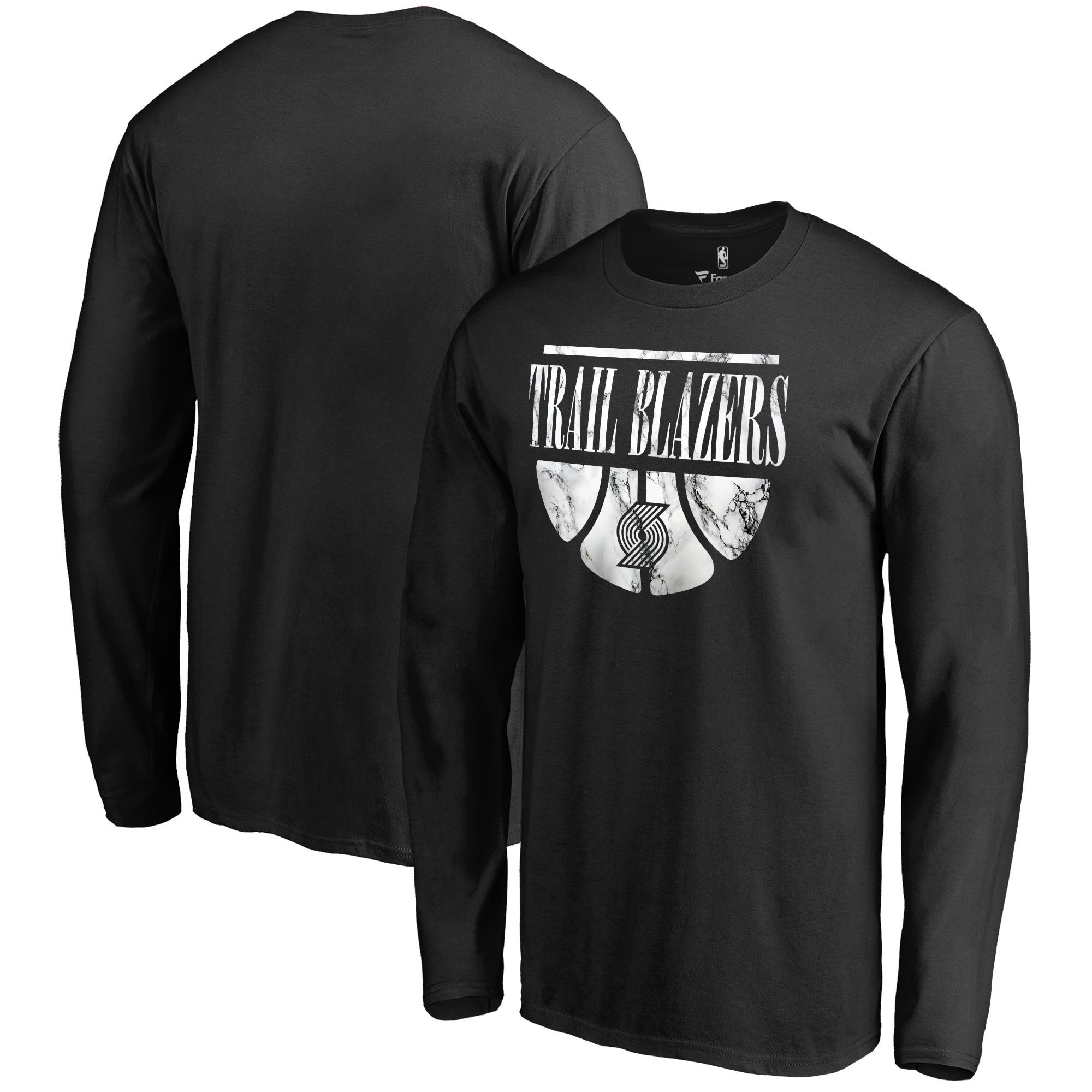 Portland Trail Blazers Fanatics Branded Buckets Long Sleeve T-Shirt - Black