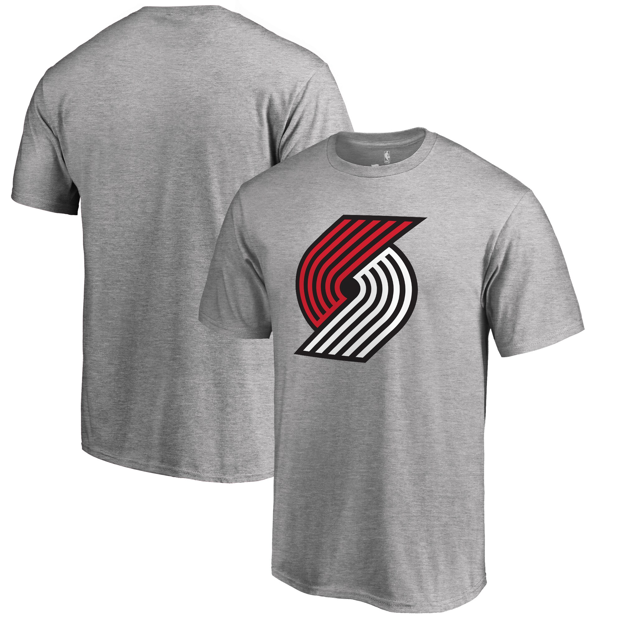 Portland Trail Blazers Fanatics Branded Big & Tall Primary Logo T-Shirt - Ash