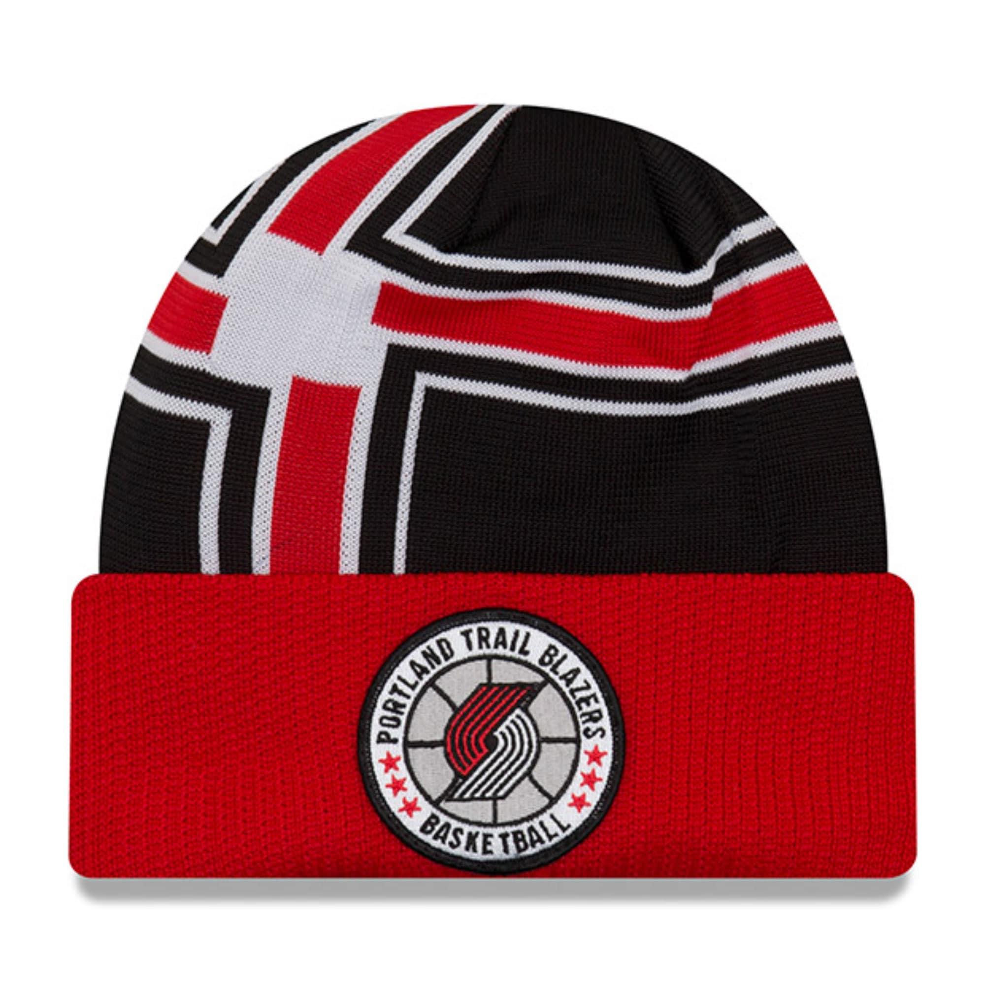 Portland Trail Blazers New Era 2018 Tip Off Series Cuffed Knit Hat - Black