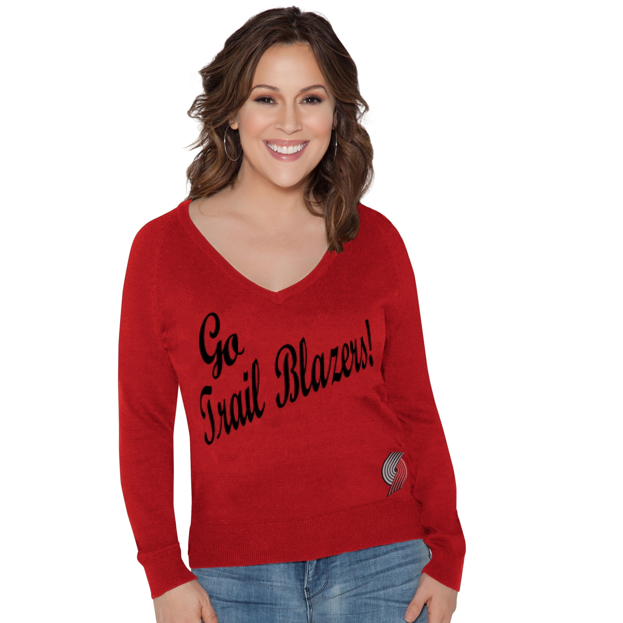 Portland Trail Blazers Touch by Alyssa Milano Women's MVP Sweater - Red