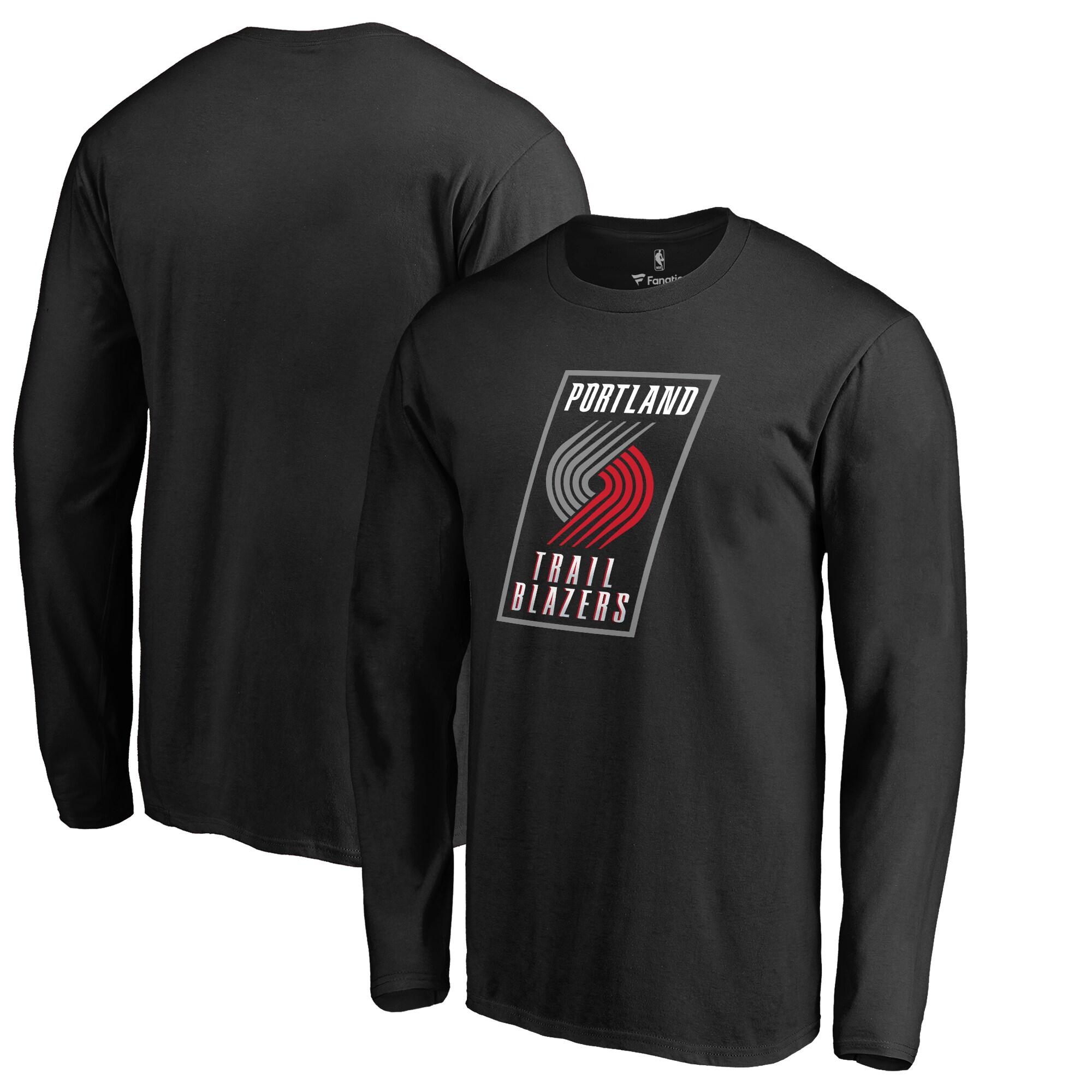 Portland Trail Blazers Primary Logo Long Sleeve T-Shirt - Black