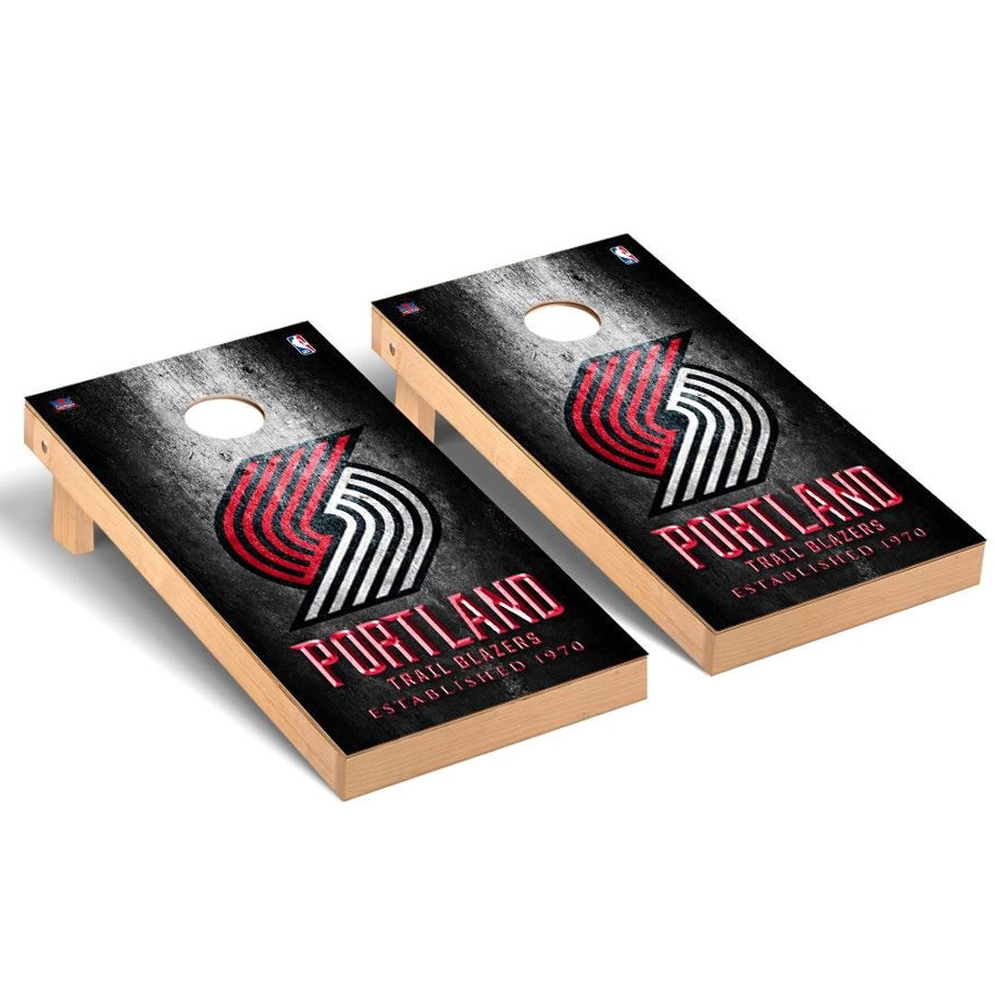 Portland Trail Blazers 2' x 4' Metal Design Cornhole Game Set