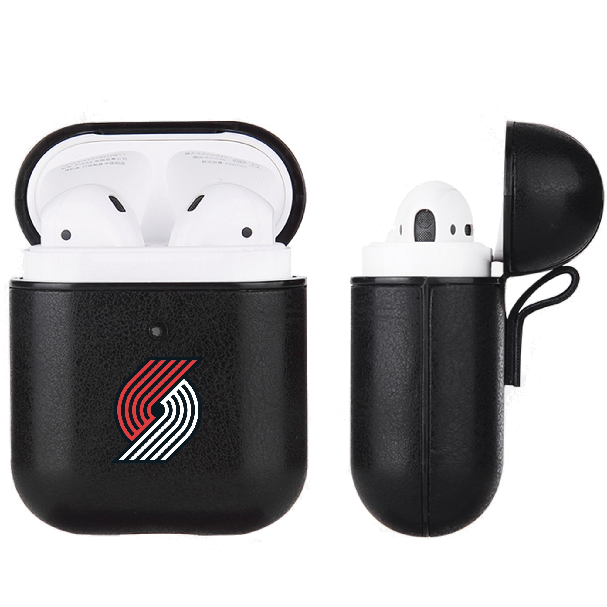 Portland Trail Blazers Air Pods Black Leatherette Case