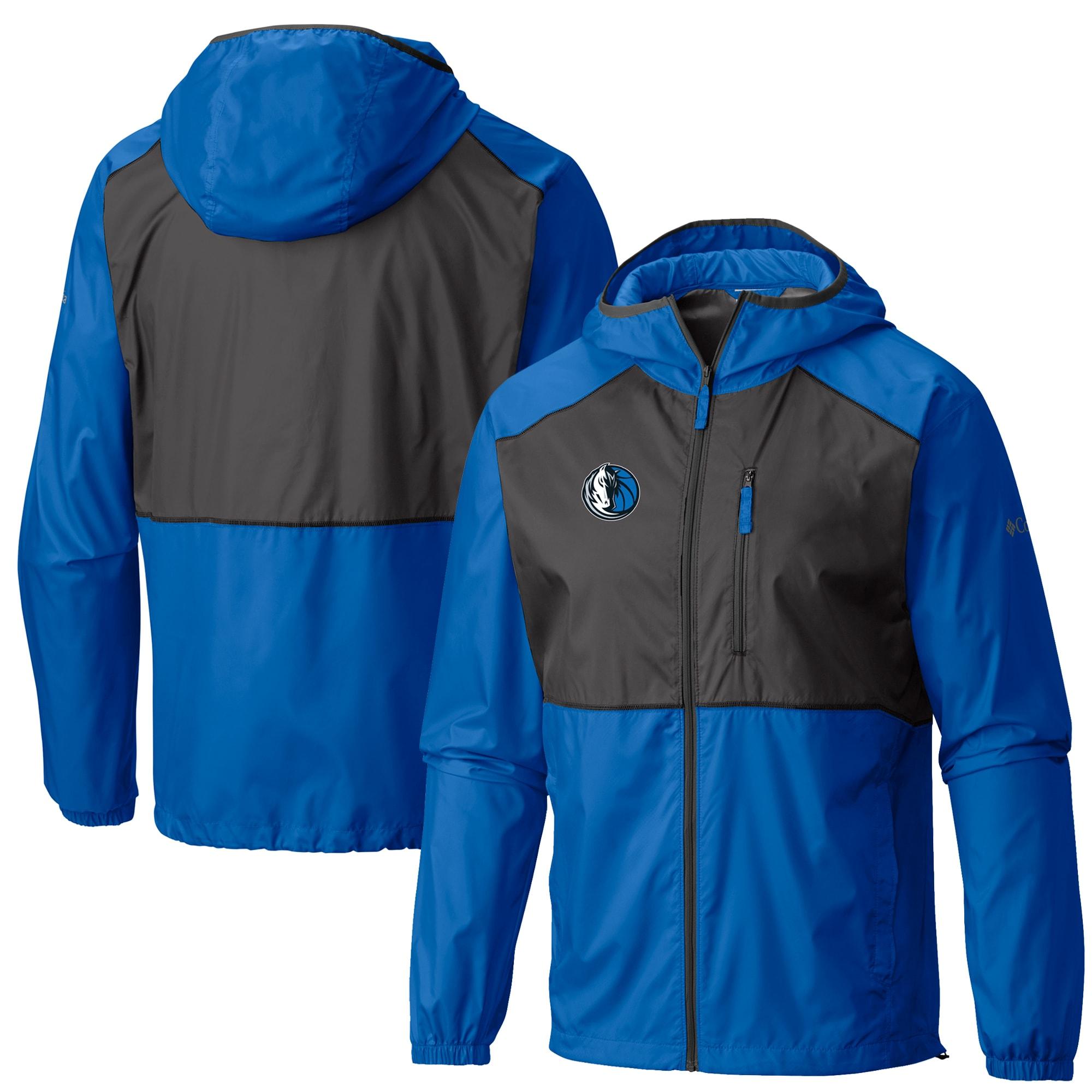 Dallas Mavericks Columbia Flash Forward Full-Zip Windbreaker Jacket - Blue