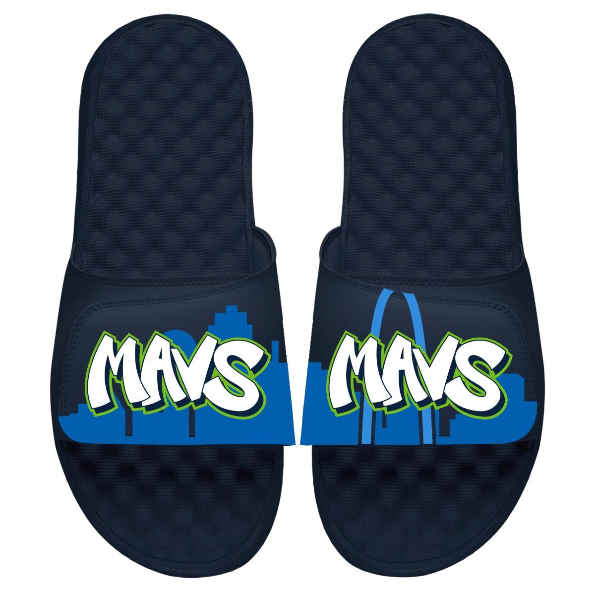 Dallas Mavericks ISlide 2019/20 City Edition Slide Sandals - Navy