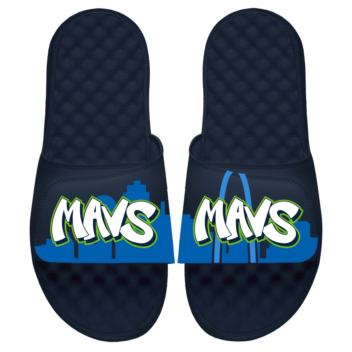 Dallas Mavericks ISlide Youth 2019/20 City Edition Slide Sandals - Navy