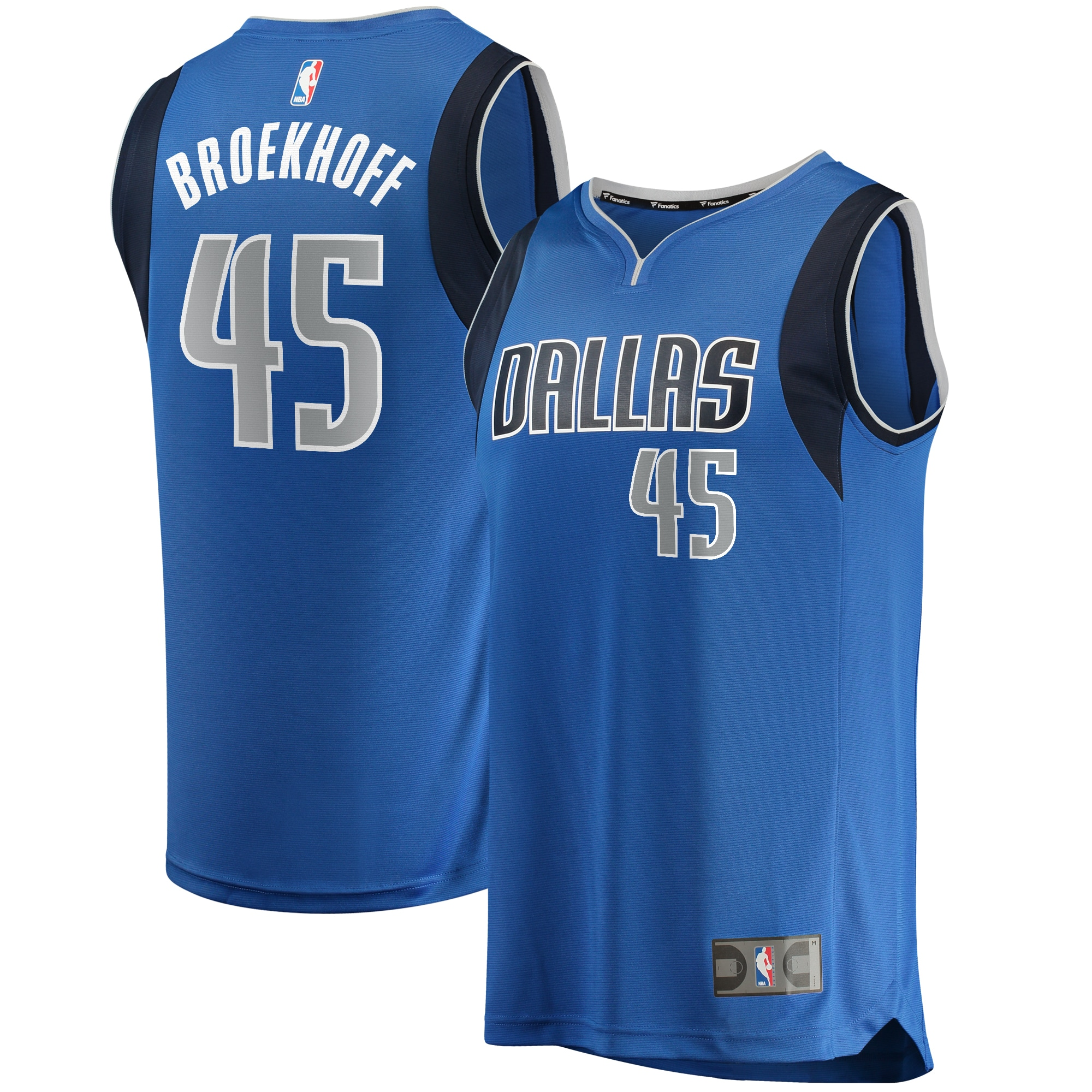 Ryan Broekhoff Dallas Mavericks Fanatics Branded Fast Break Player Replica Jersey - Icon Edition - Blue