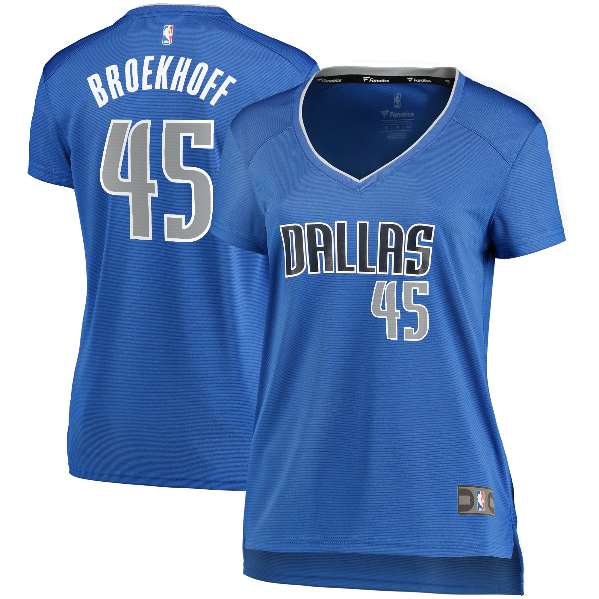 Ryan Broekhoff Dallas Mavericks Fanatics Branded Women's Fast Break Player Replica Jersey - Icon Edition - Blue