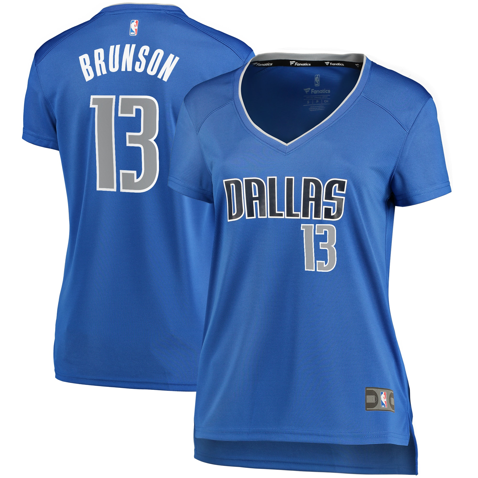 Jalen Brunson Dallas Mavericks Fanatics Branded Women's Fast Break Player Replica Jersey - Icon Edition - Blue