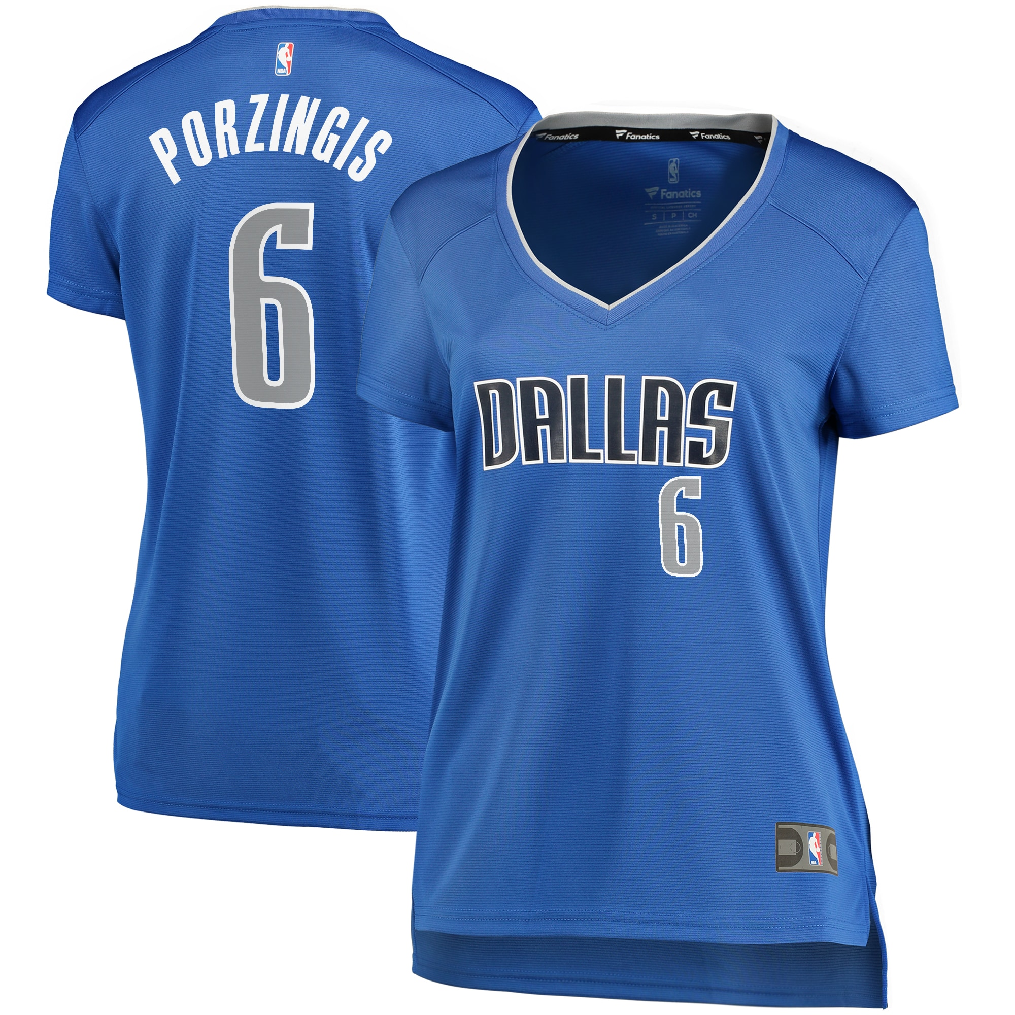 Kristaps Porzingis Dallas Mavericks Fanatics Branded Women's Fast Break Player Replica Jersey - Icon Edition - Blue