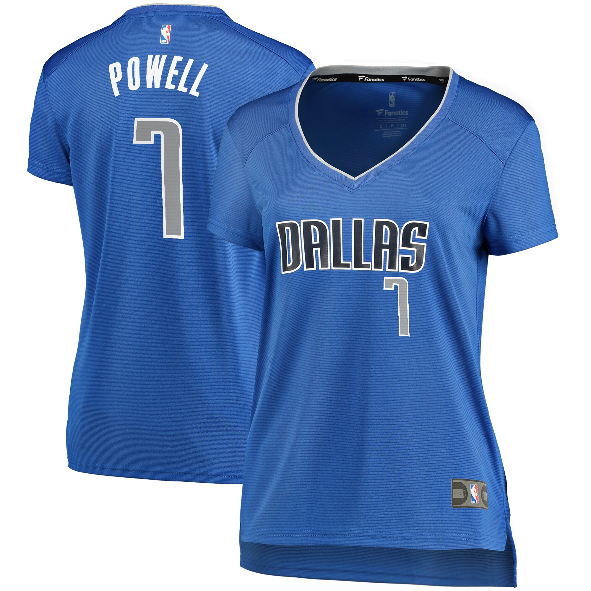 Dwight Powell Dallas Mavericks Fanatics Branded Women's Fast Break Player Replica Jersey - Icon Edition - Blue