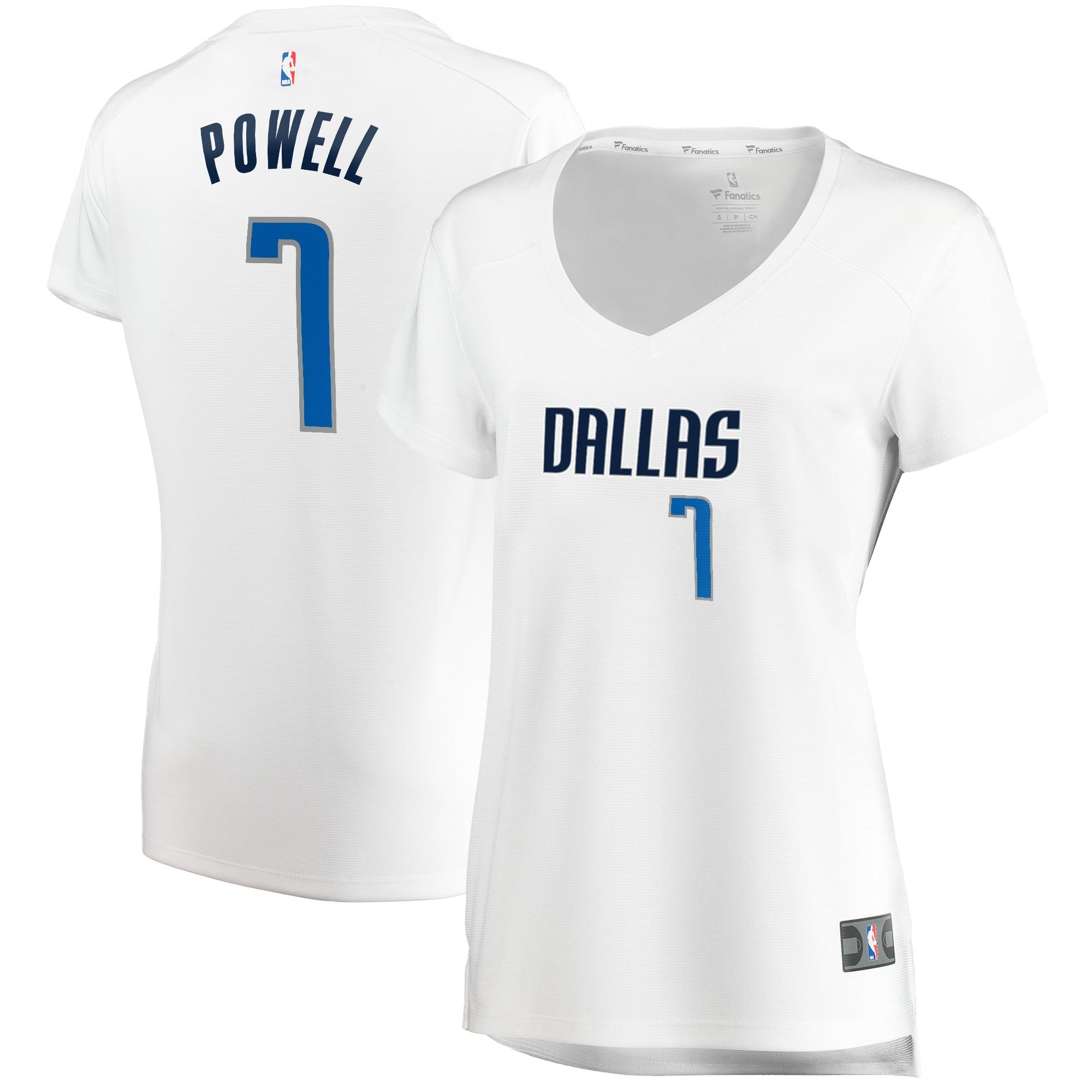 Dwight Powell Dallas Mavericks Fanatics Branded Women's Fast Break Player Replica Jersey - Association Edition - White