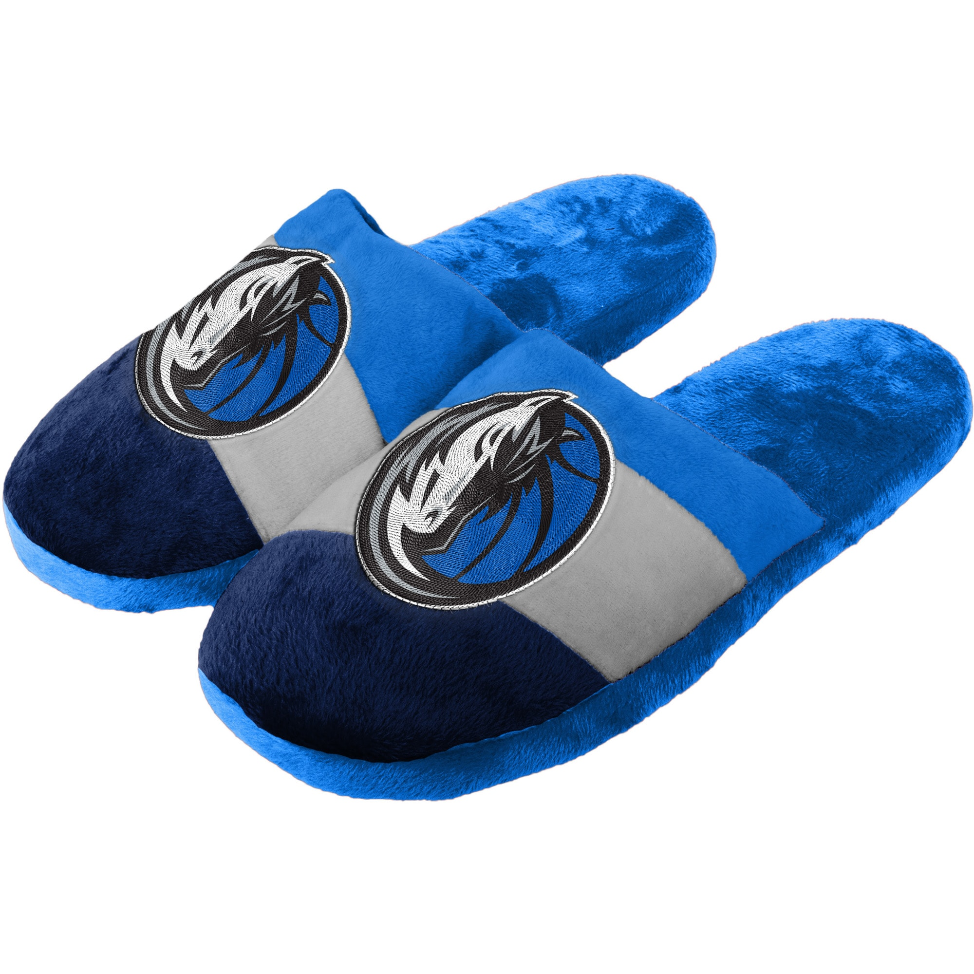 Dallas Mavericks Youth Team Colorblock Slide Slippers