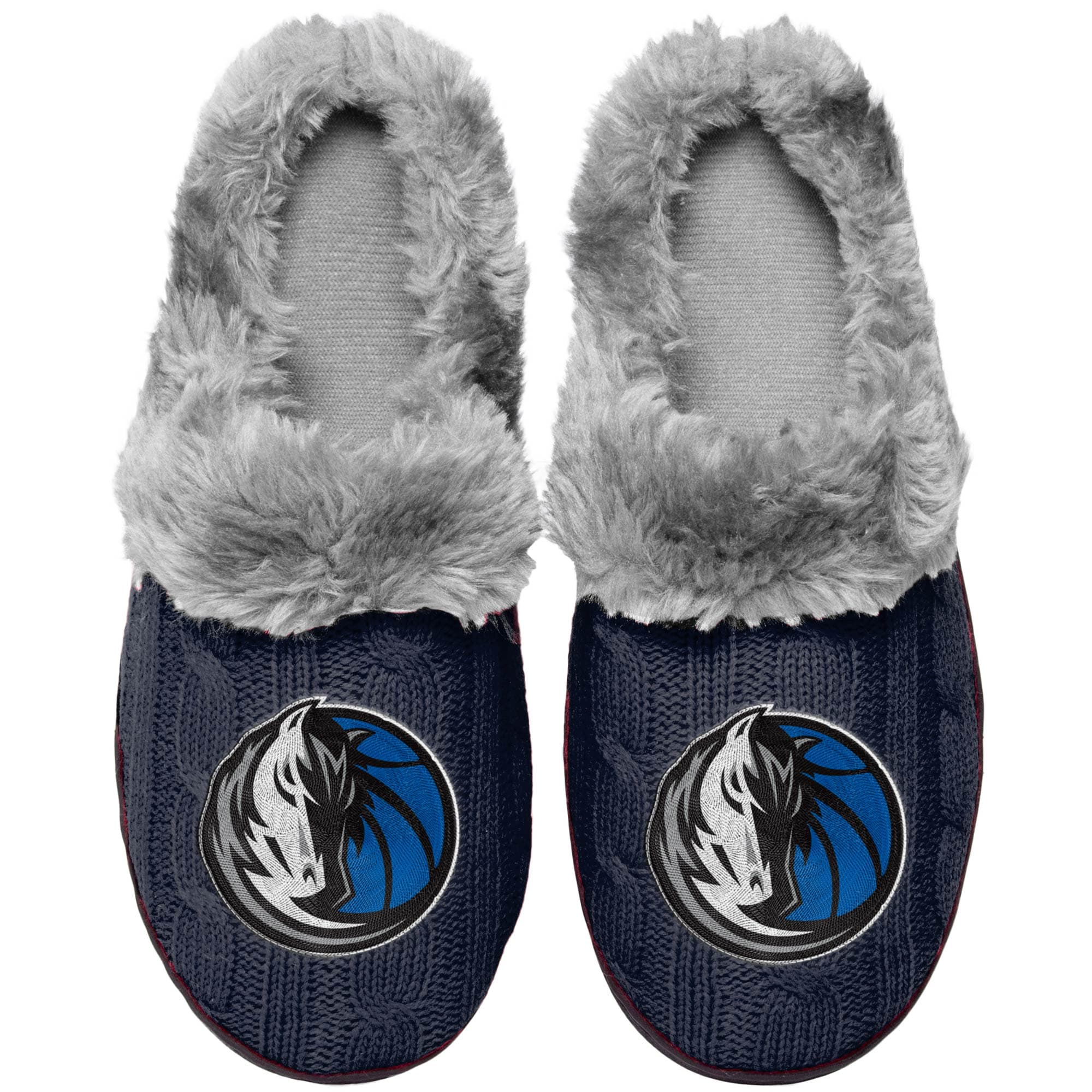 Dallas Mavericks Women's Cable Knit Slide Slippers