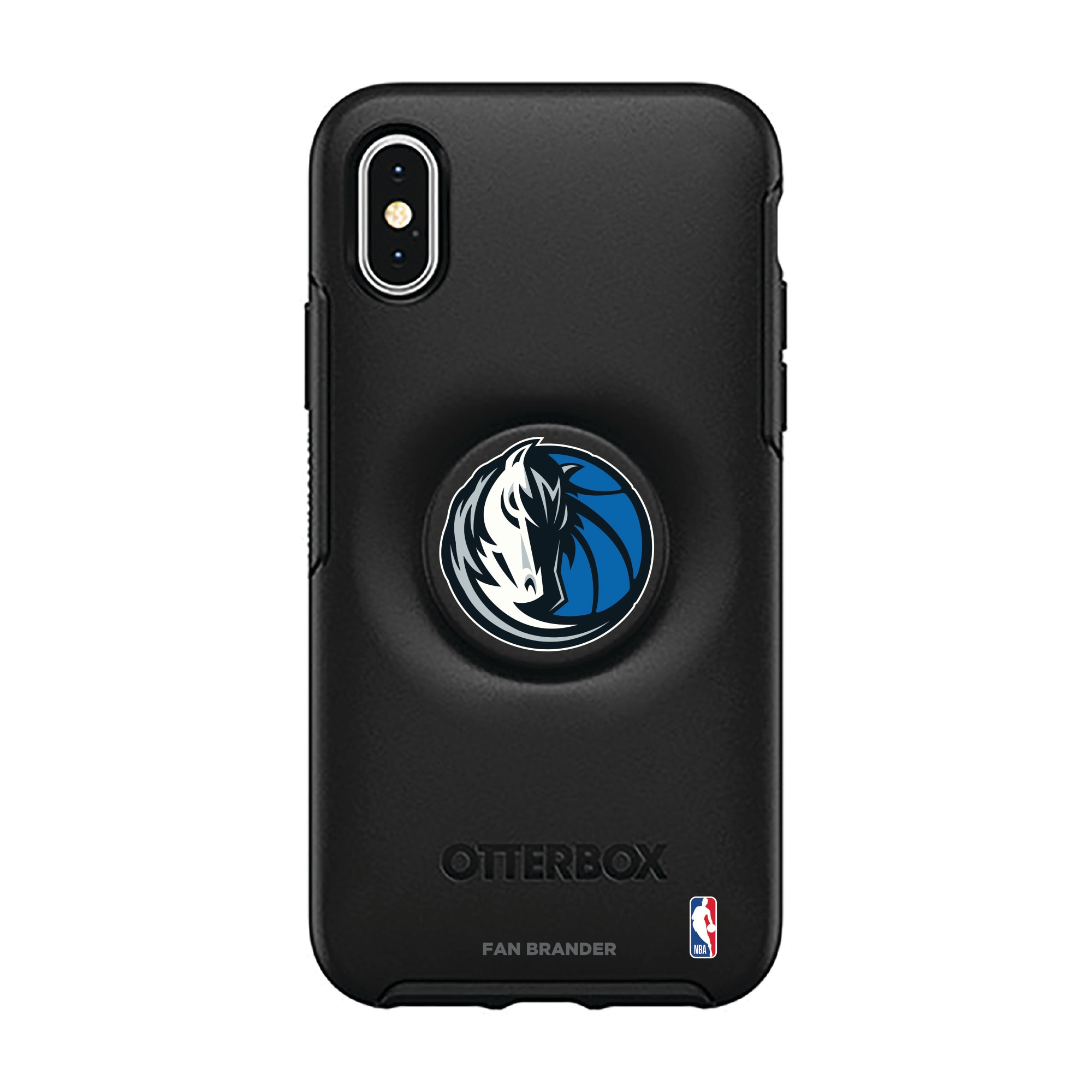 Dallas Mavericks OtterBox Otter + Pop Symmetry Series iPhone Case with Integrated PopSockets PopGrip