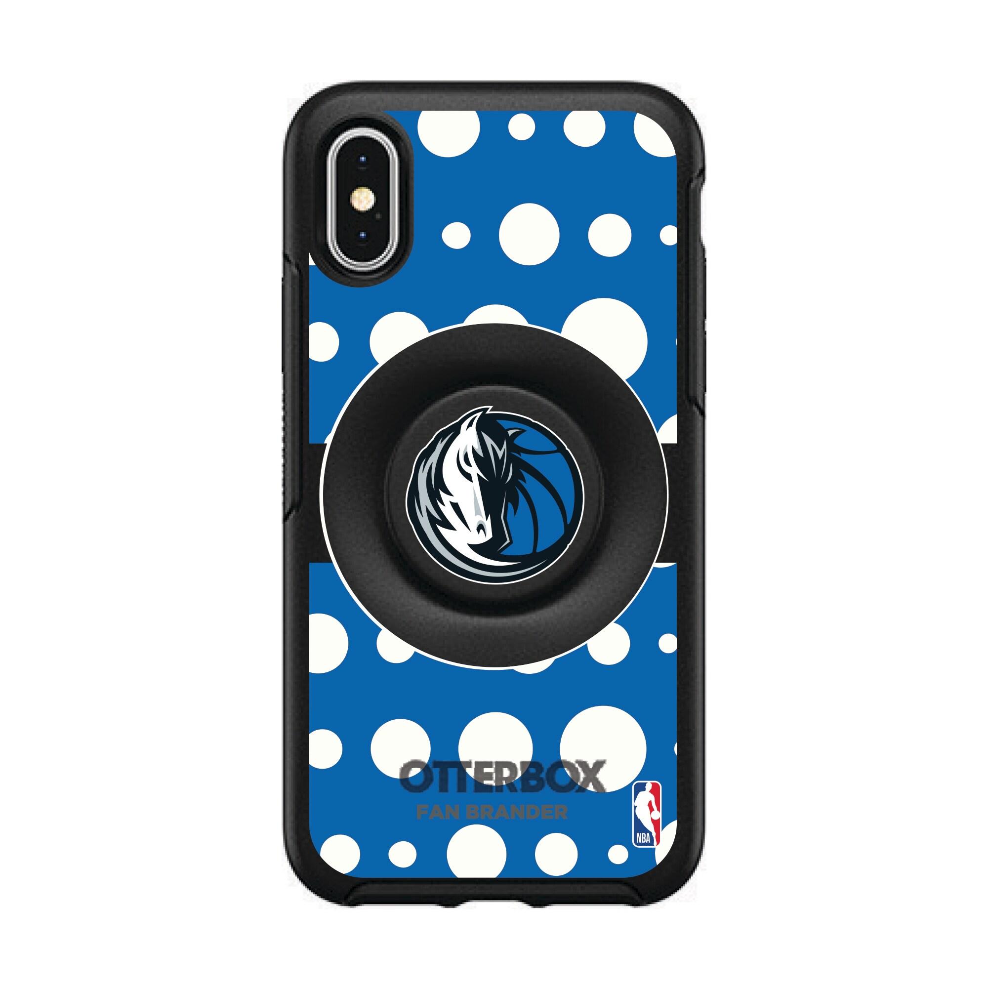 Dallas Mavericks OtterBox Otter+Pop PopSocket Polka Dot iPhone Case