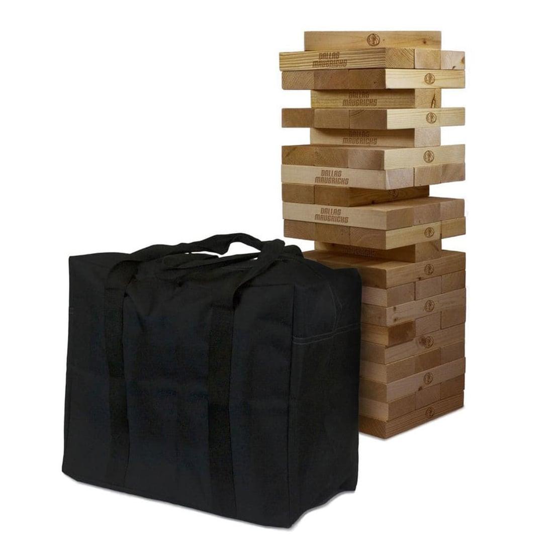 Dallas Mavericks Giant Wooden Tumble Tower Game