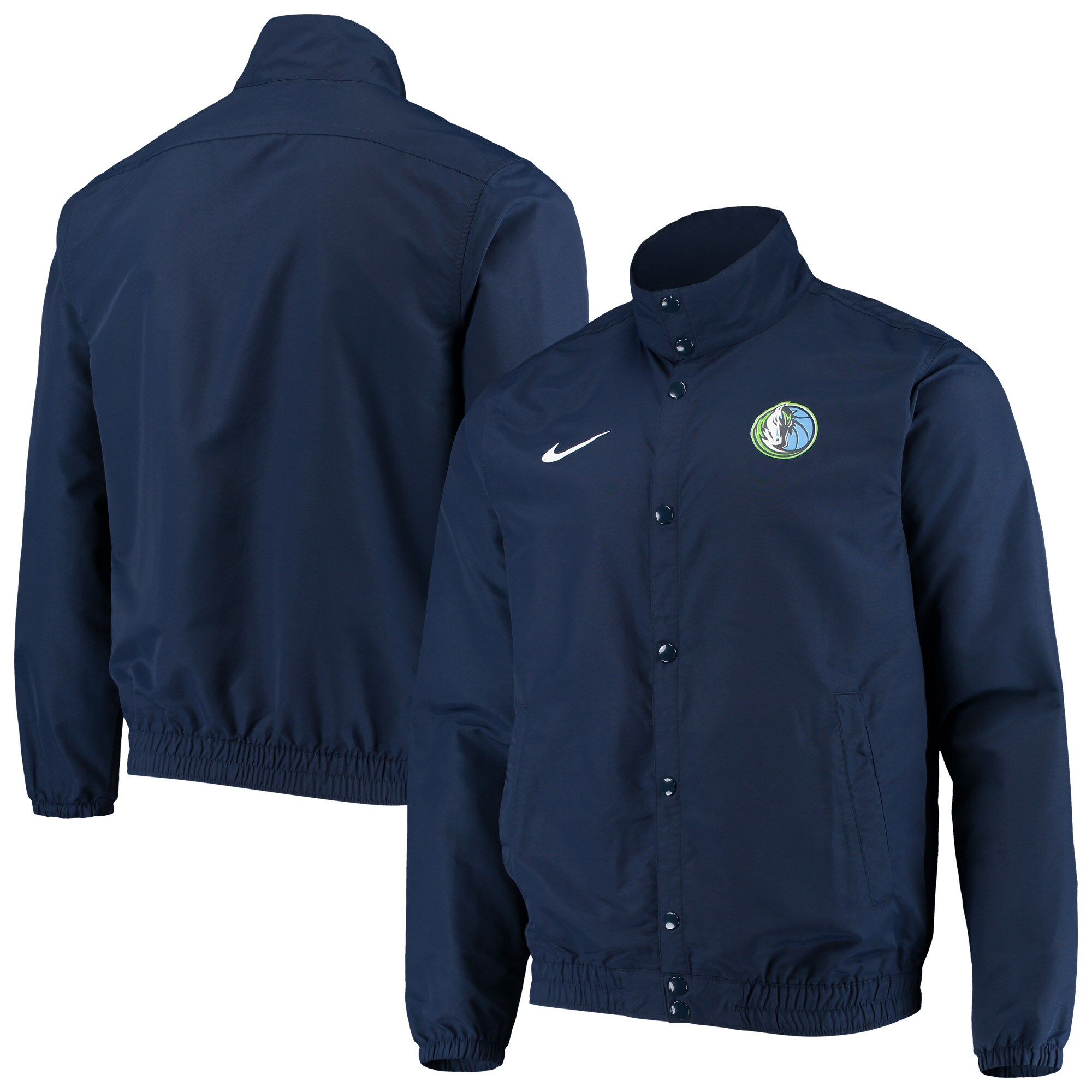 Dallas Mavericks Nike City Edition 2.0 Lightweight DNA Full-Snap Jacket - Navy