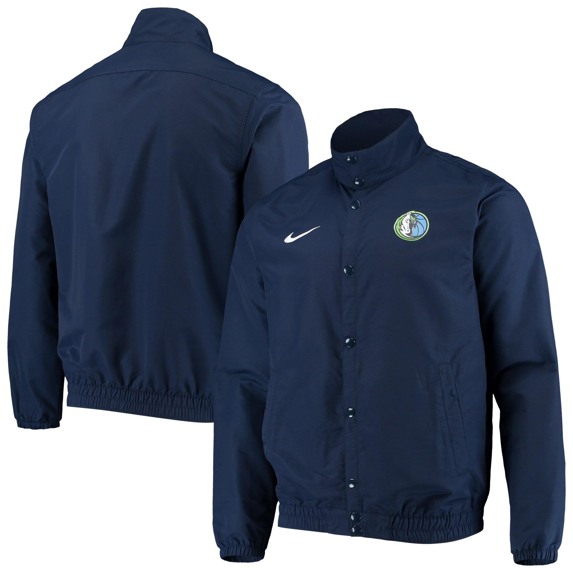 Dallas Mavericks Nike City Edition Lightweight DNA Full-Snap Jacket - Navy