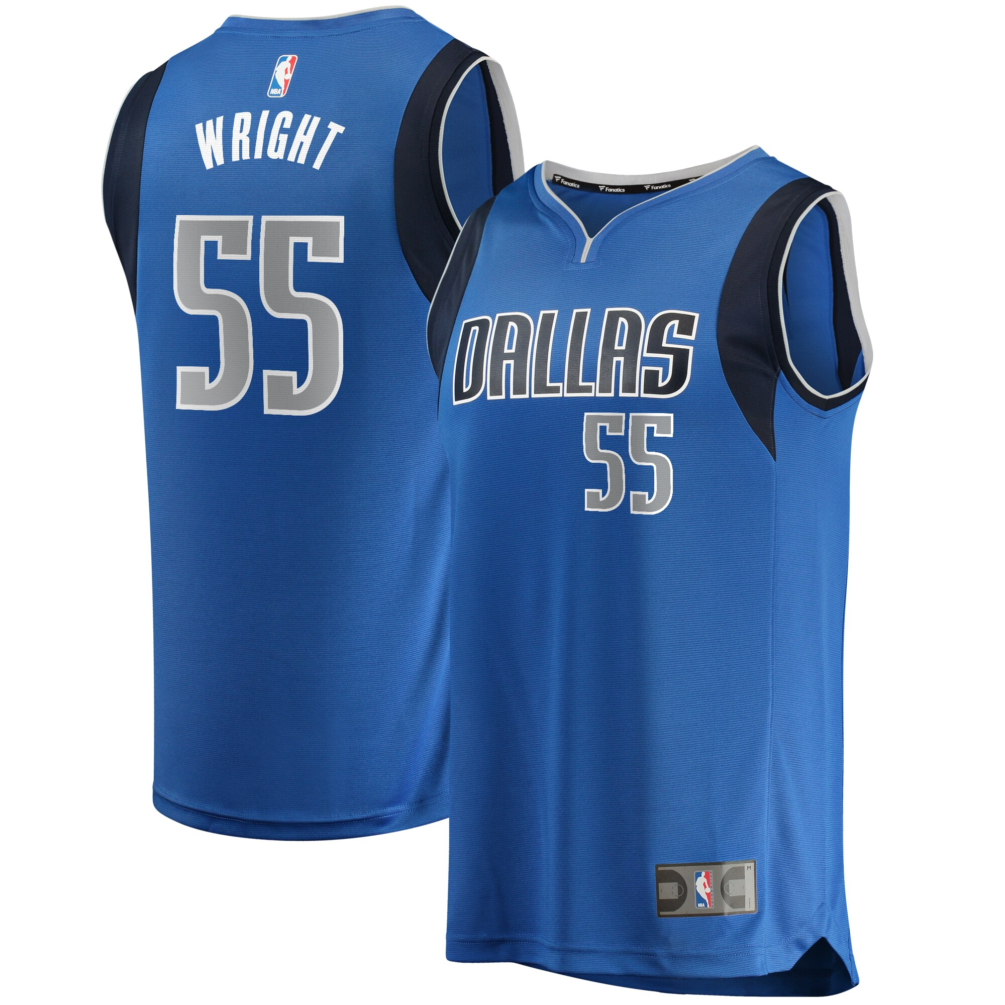 Delon Wright Dallas Mavericks Fanatics Branded Fast Break Replica Jersey Royal - Icon Edition