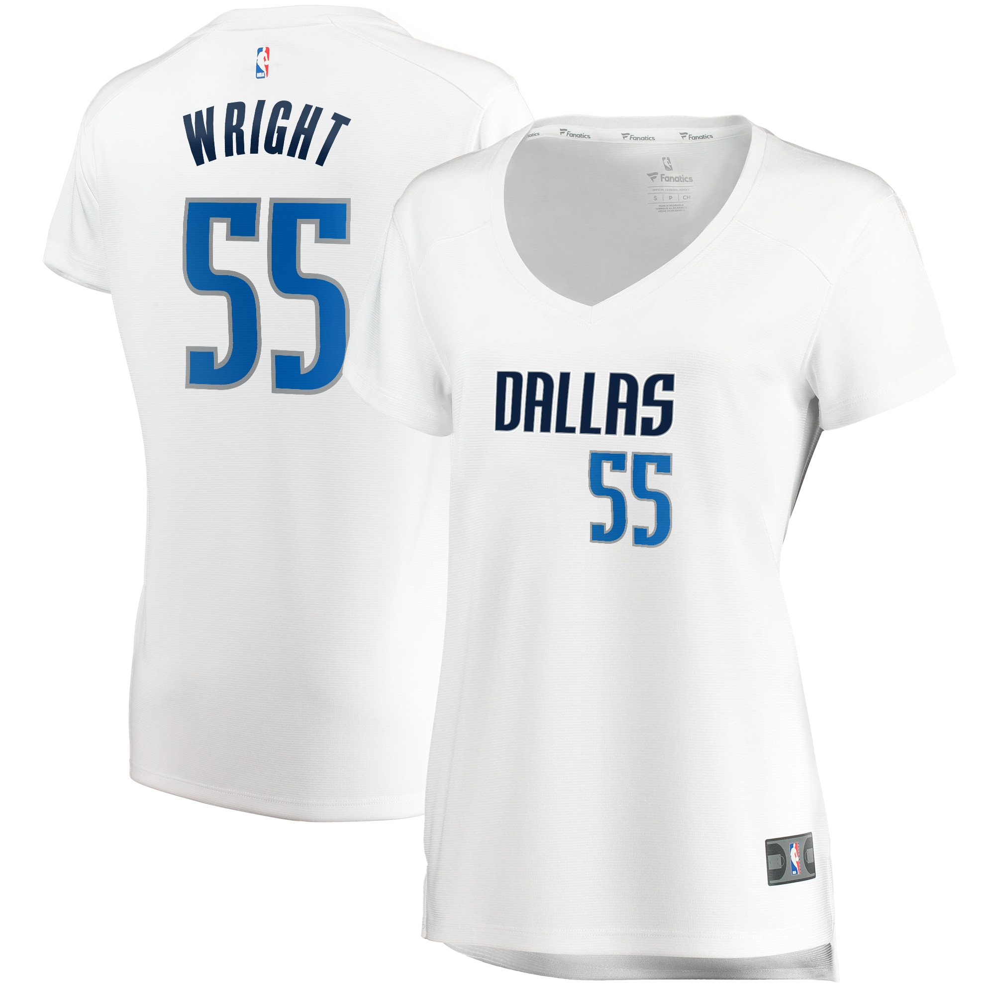 Delon Wright Dallas Mavericks Fanatics Branded Women's Fast Break Replica Jersey White - Association Edition