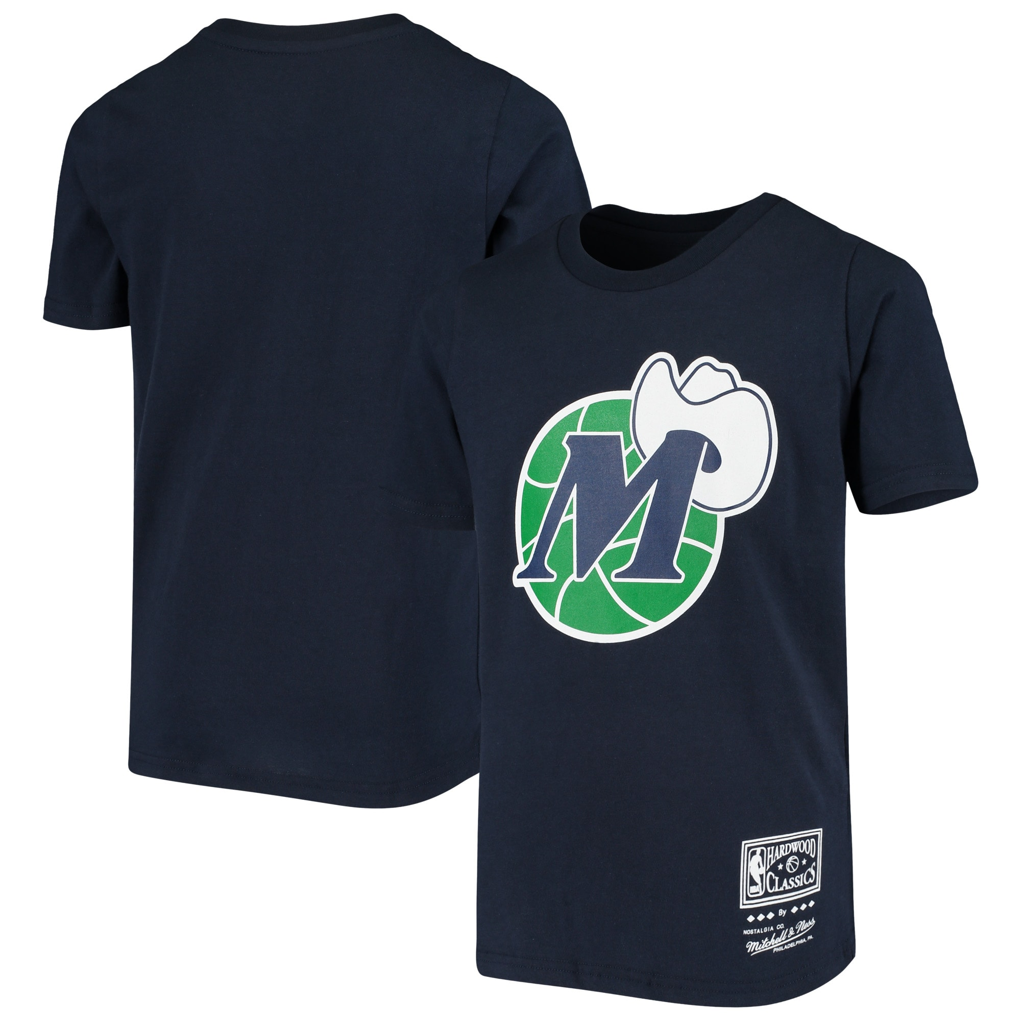 Dallas Mavericks Mitchell & Ness Youth Hardwood Classics T-Shirt - Navy