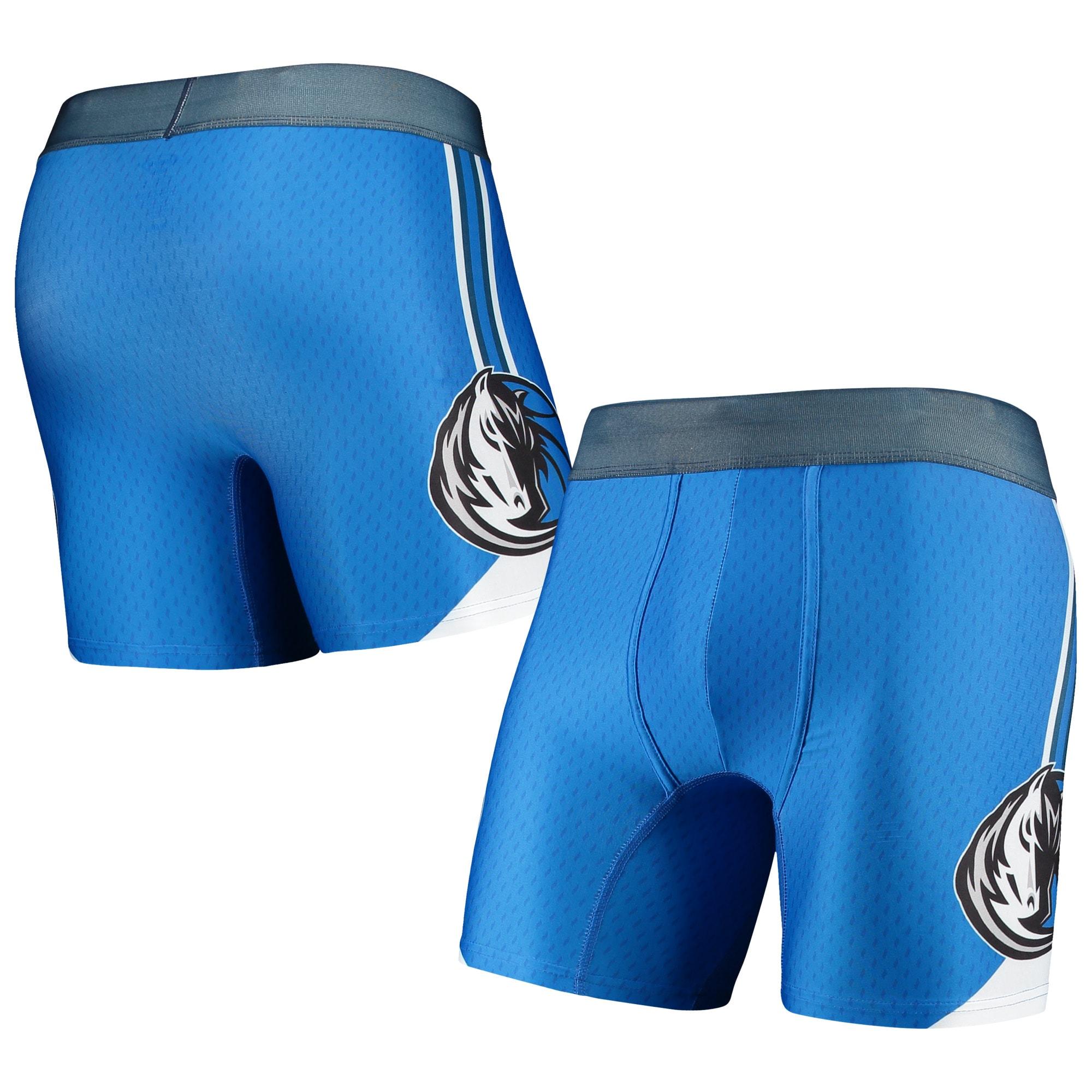 Dallas Mavericks Concepts Sport Flyaway Swingman Boxer Briefs - Blue