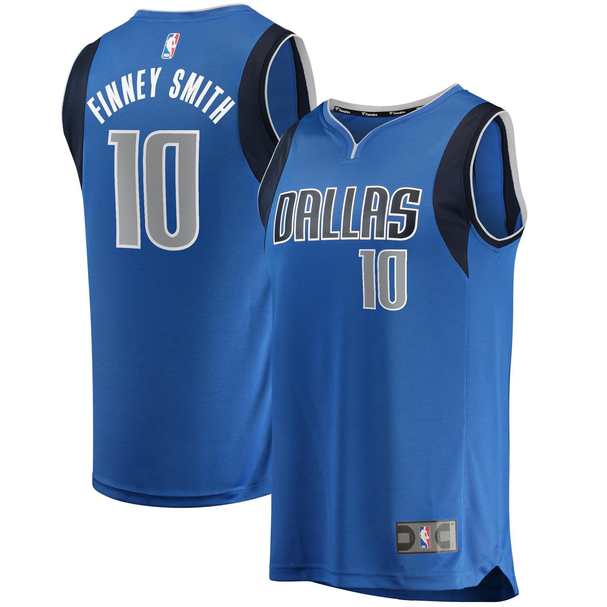 Dorian Finney-Smith Dallas Mavericks Fanatics Branded Fast Break Replica Jersey - Icon Edition - Blue