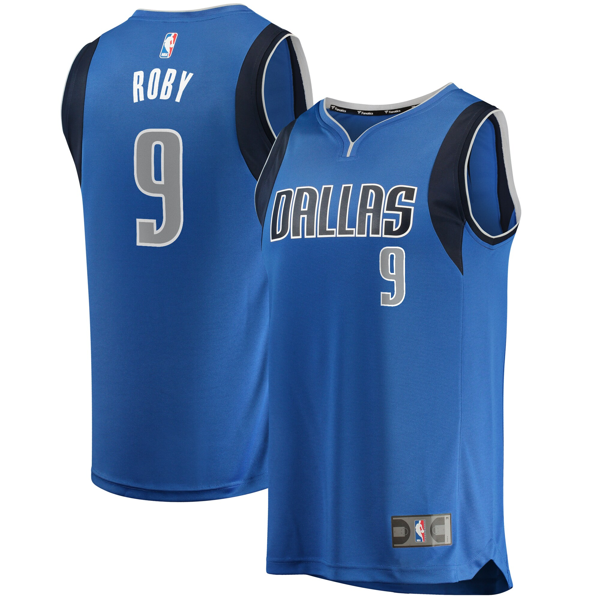 Isaiah Roby Dallas Mavericks Fanatics Branded Fast Break Replica Jersey Blue - Icon Edition