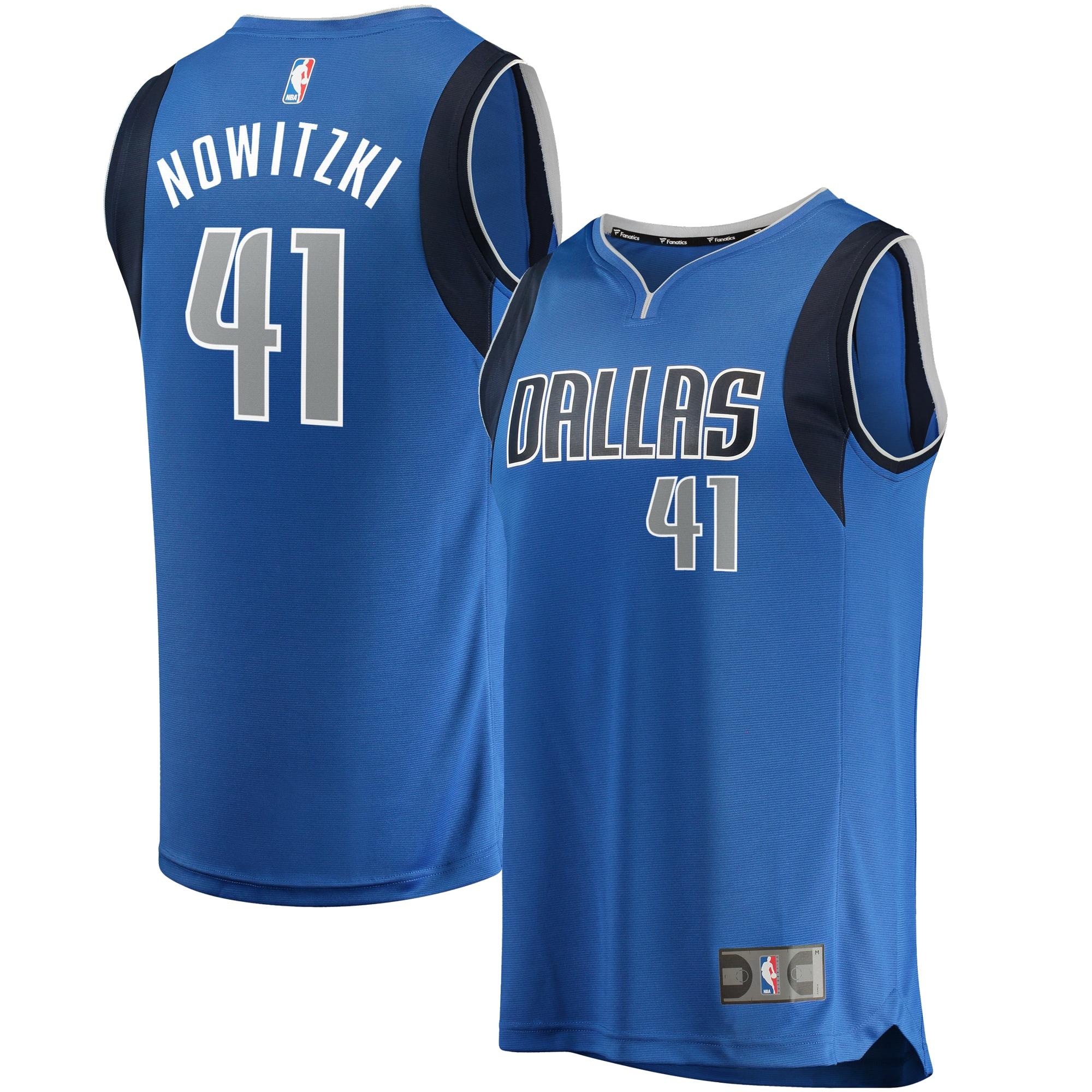Dirk Nowitzki Dallas Mavericks Fanatics Branded Youth Fast Break Replica Jersey - Blue