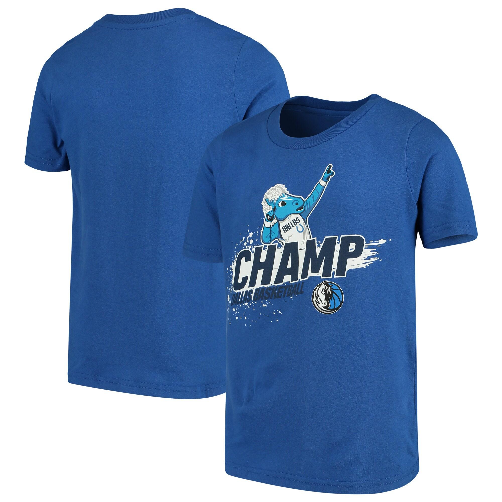 Dallas Mavericks Youth Mascot Ice Break T-Shirt - Blue