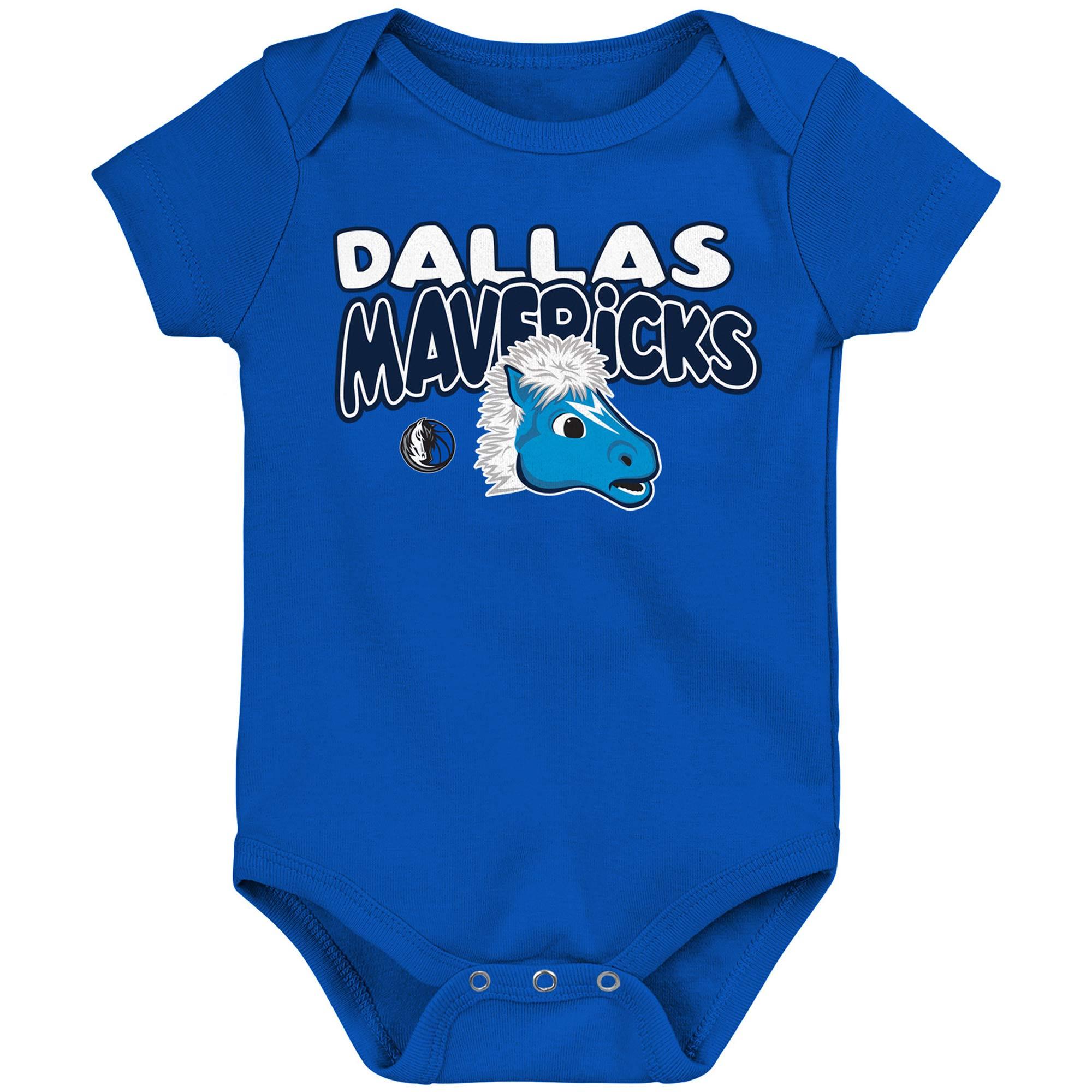 Dallas Mavericks Infant Bubble Letter Bodysuit - Blue