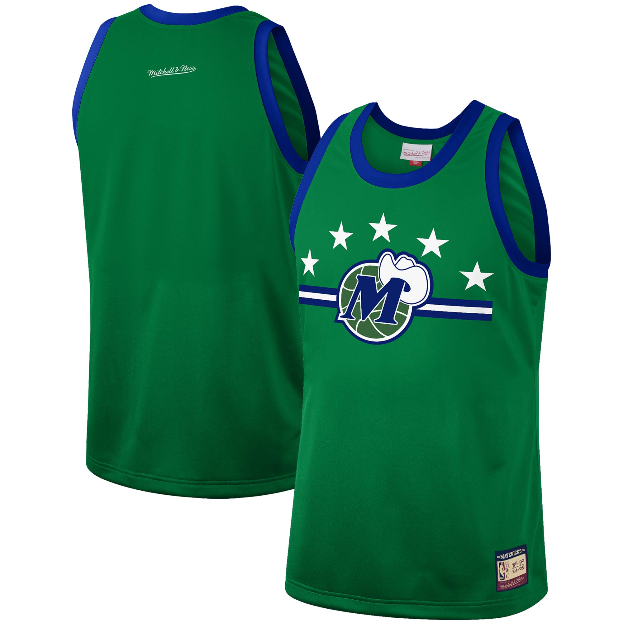 Dallas Mavericks Mitchell & Ness Hardwood Classics Team Heritage Fashion Jersey - Green