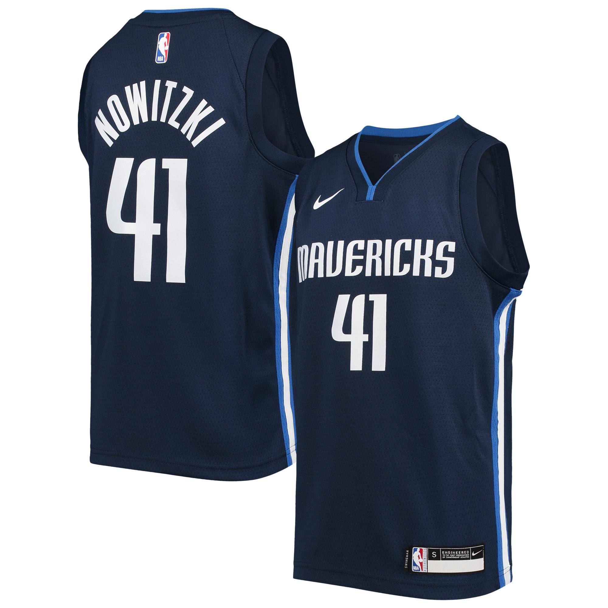 Dirk Nowitzki Dallas Mavericks Nike Youth Swingman Player Jersey - Statement Edition - Navy