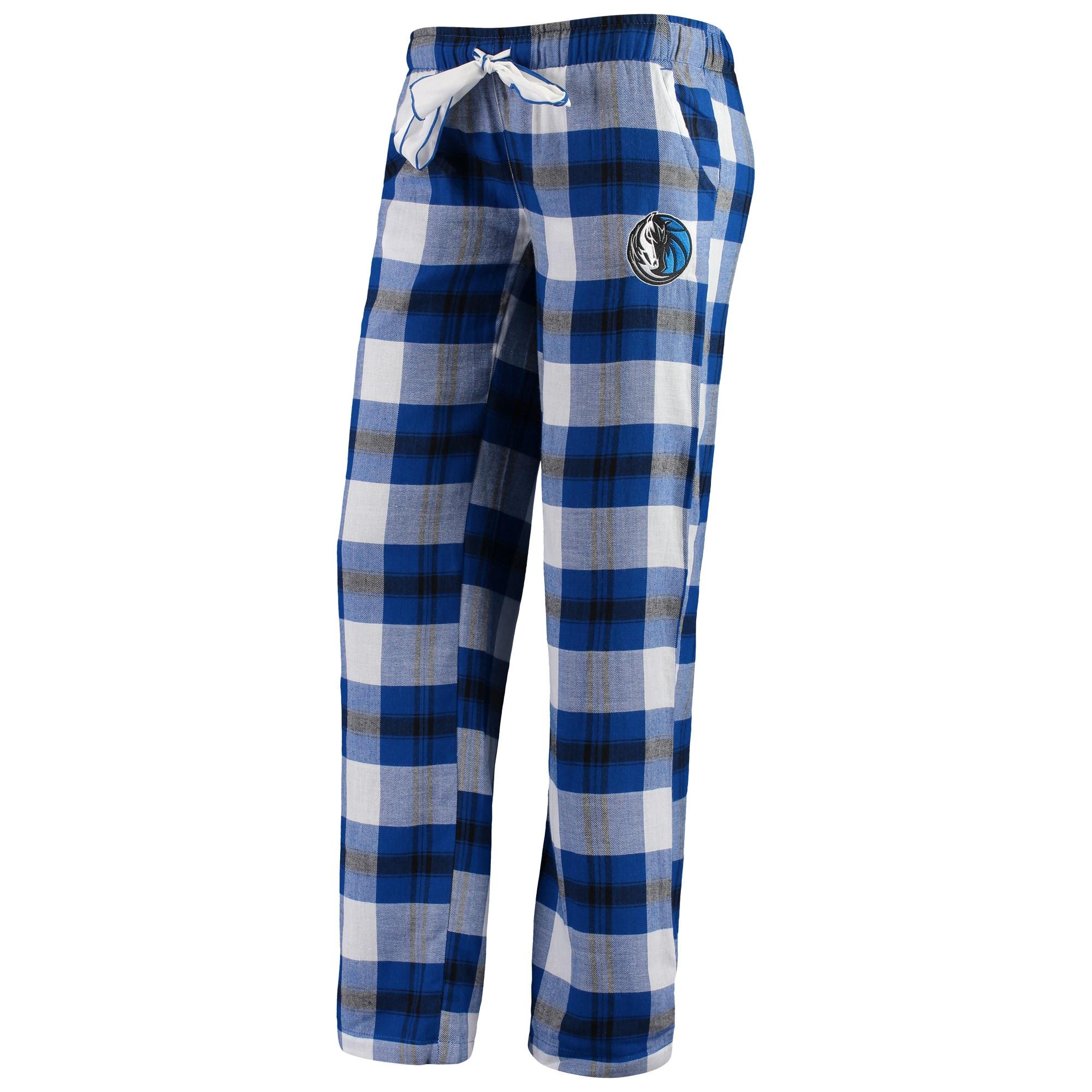 Dallas Mavericks Concepts Sport Women's Headway Flannel Pants - Blue/Black