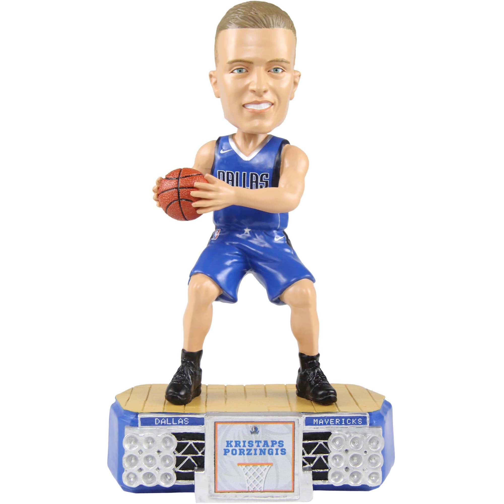 Kristaps Porzingis Dallas Mavericks Stadium Lights Bobblehead