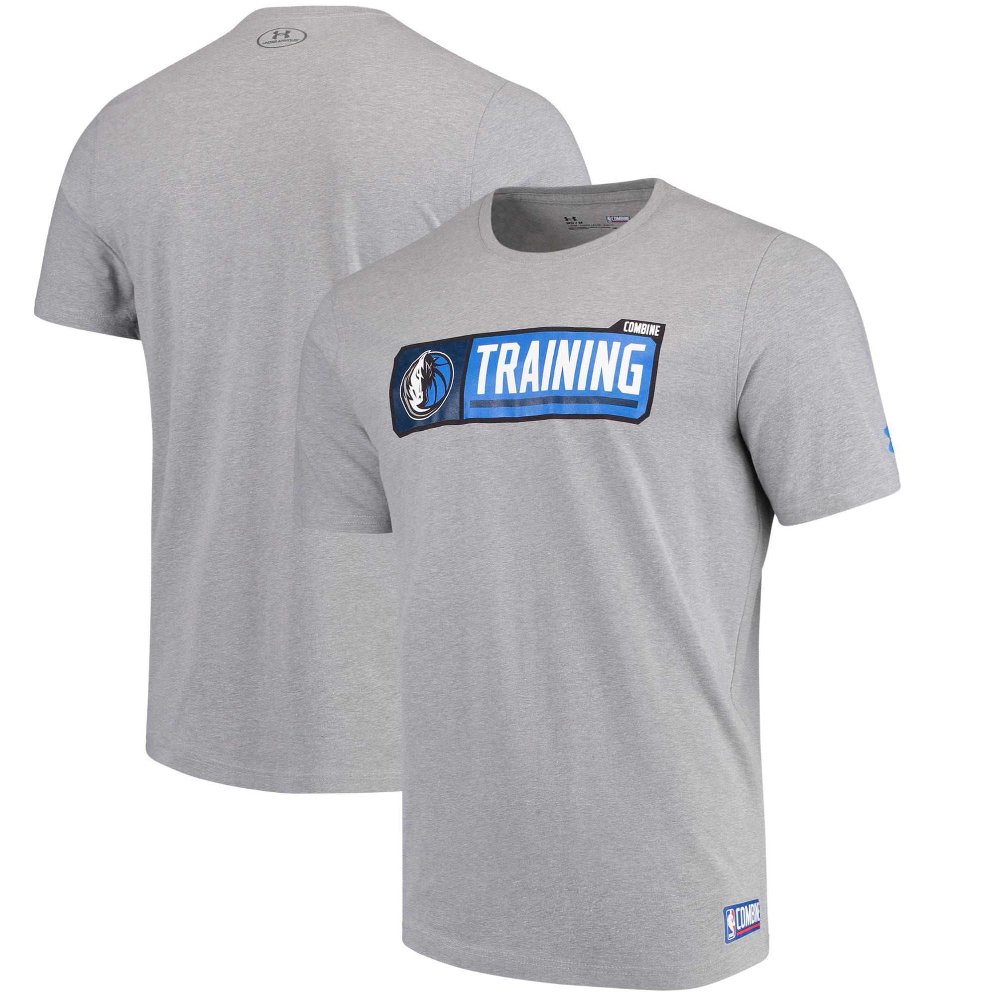 Dallas Mavericks Under Armour Authentic Pill Performance Tri-Blend T-Shirt - Heathered Gray
