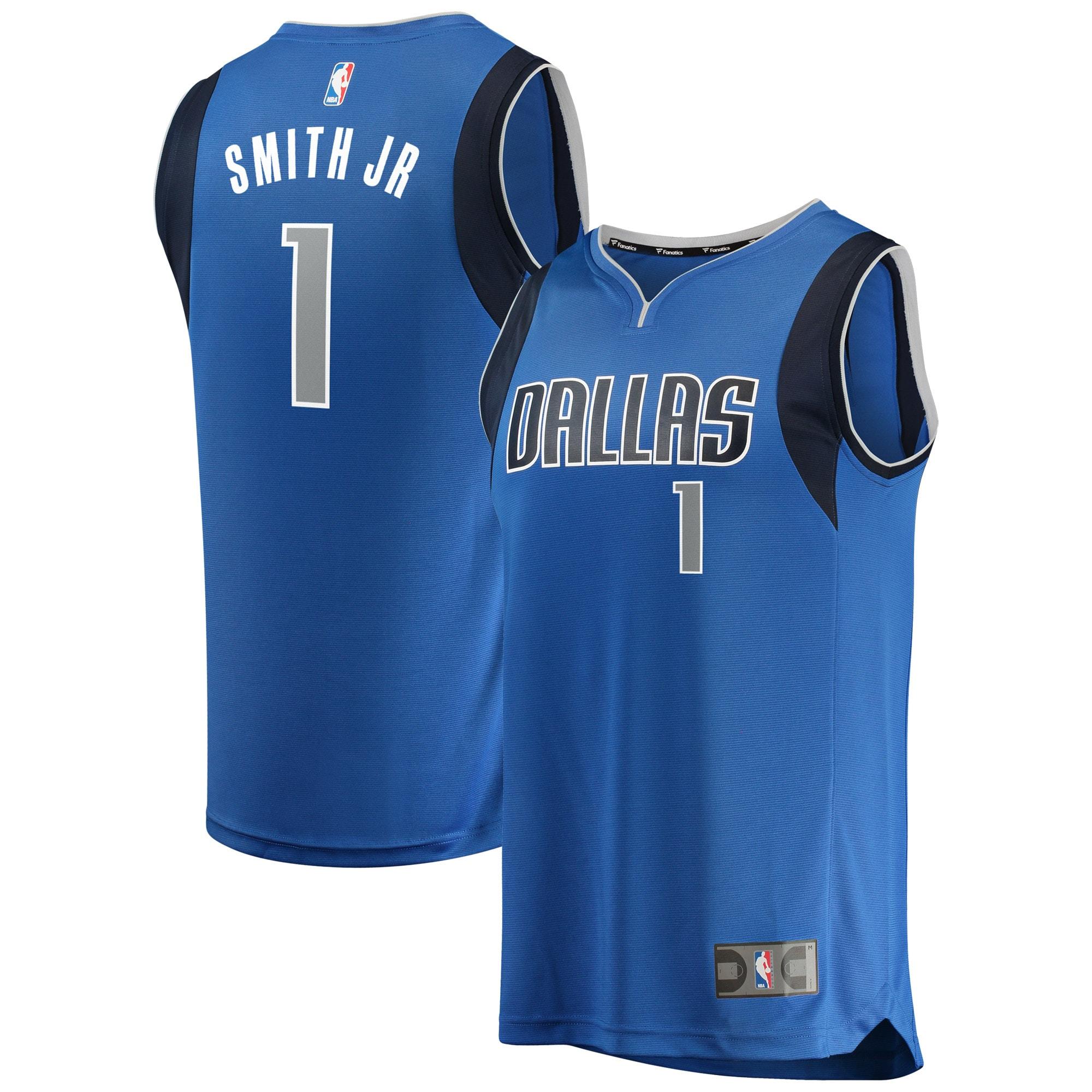 Dennis Smith Dallas Mavericks Fanatics Branded Youth Fast Break Replica Jersey Blue - Icon Edition
