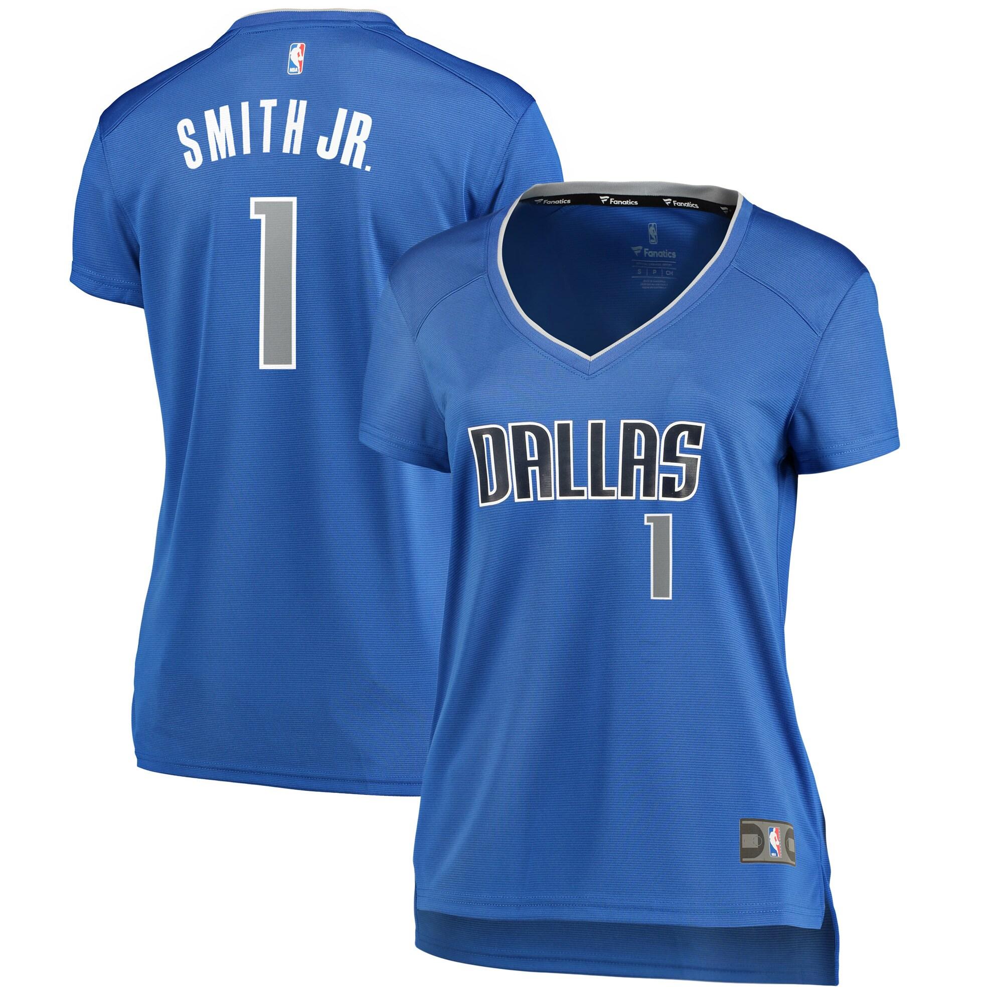 Dennis Smith Dallas Mavericks Fanatics Branded Women's Fast Break Replica Jersey Royal - Icon Edition