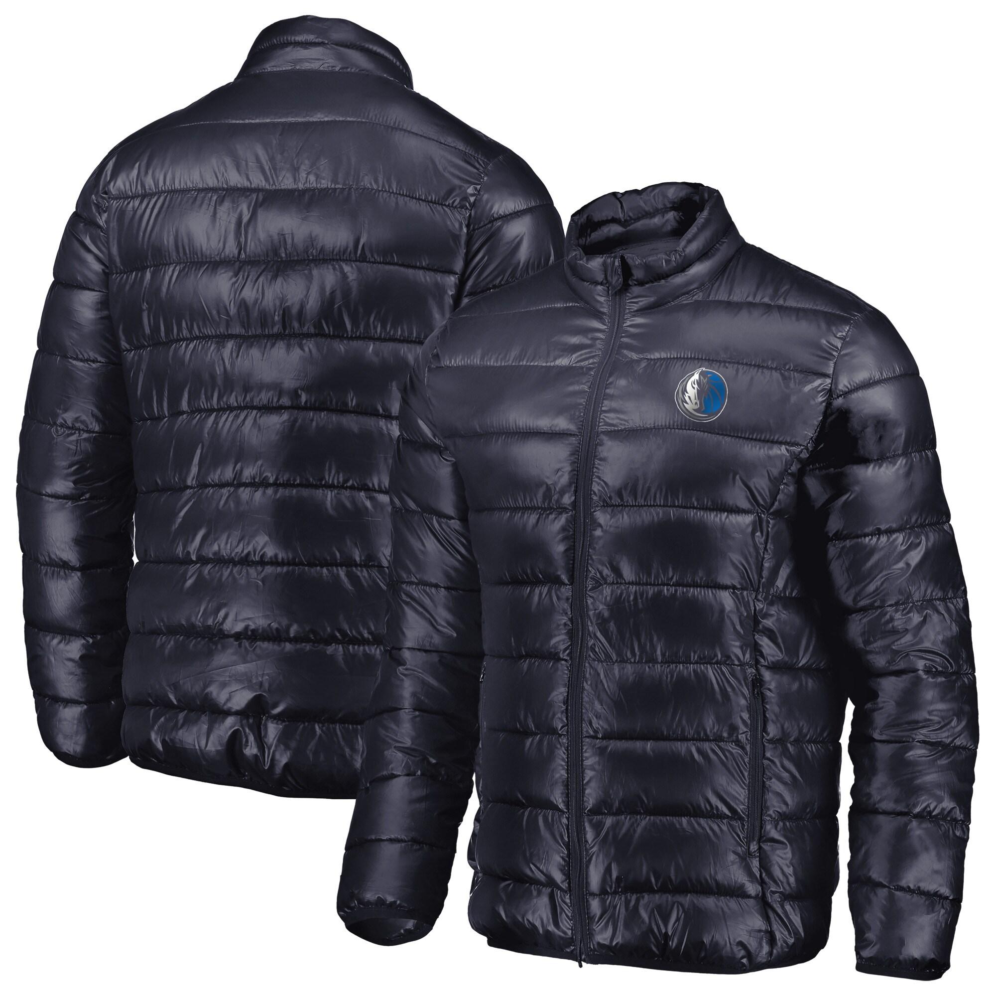 Dallas Mavericks Fanatics Branded Heater Puffer Full-Zip Jacket - Navy