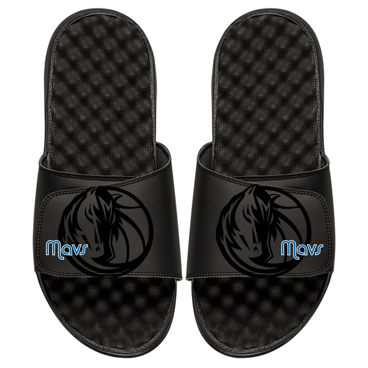 Dallas Mavericks ISlide Tonal Pop Slide Sandals - Black
