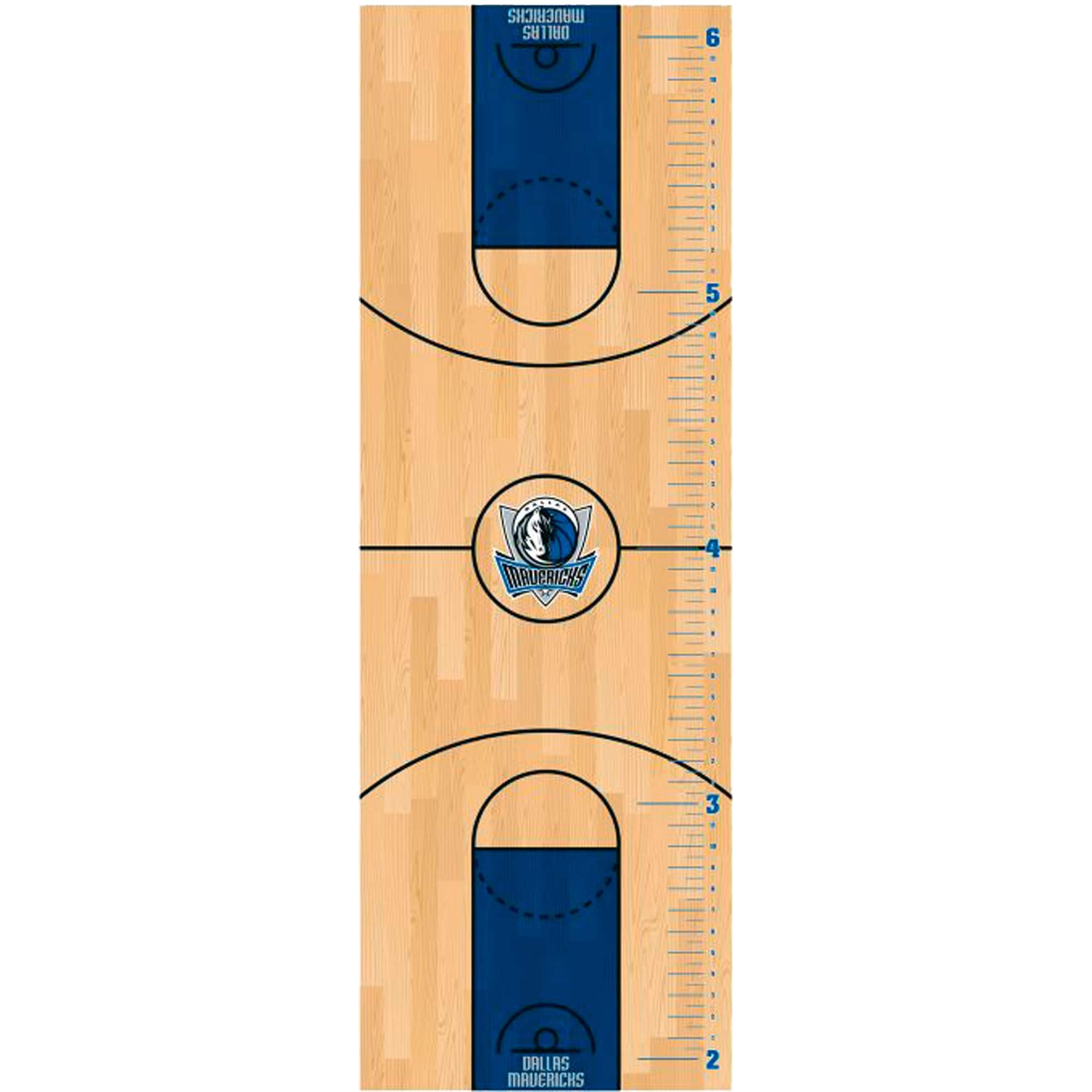 Dallas Mavericks Fathead Basketball Court Large Removable Growth Chart