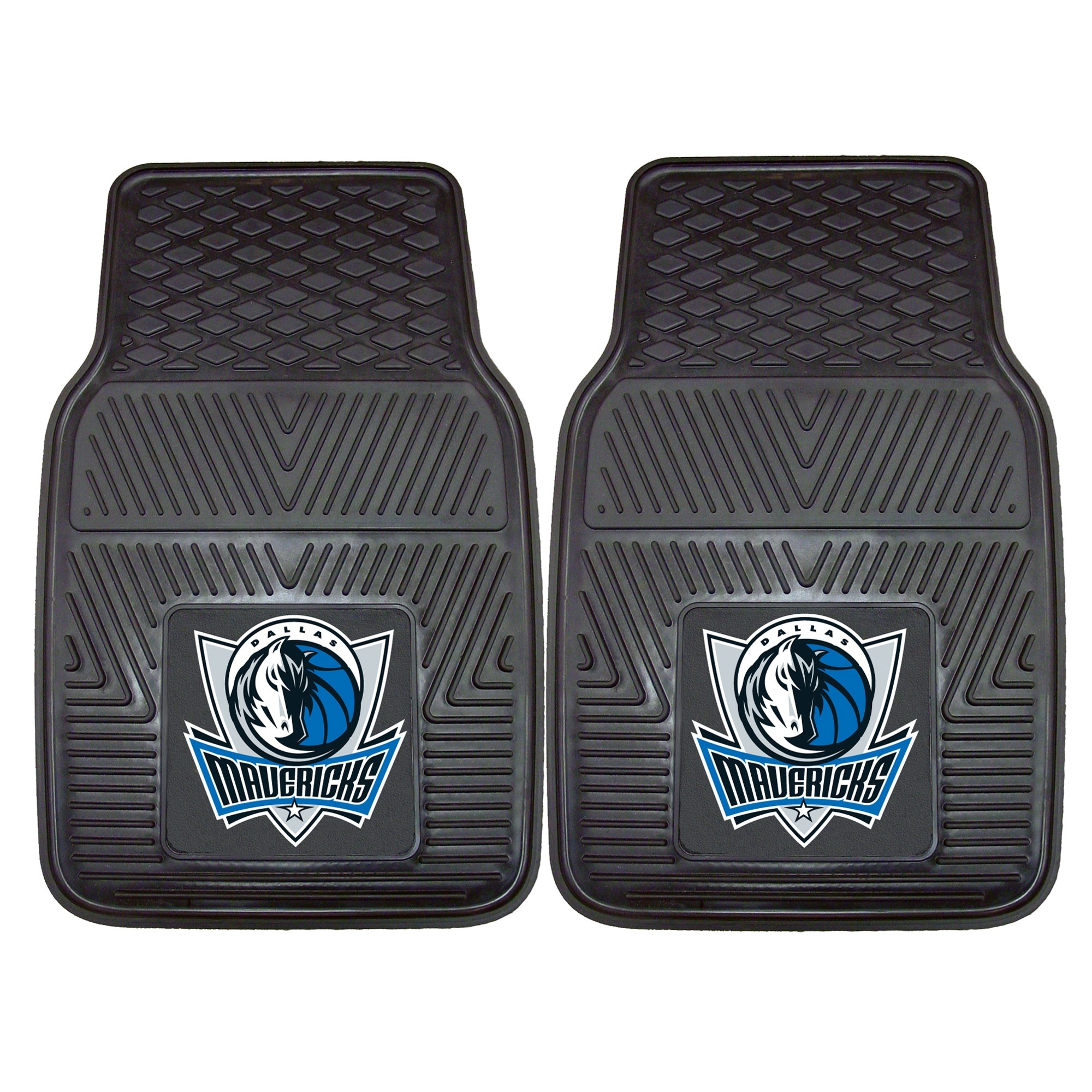 "Dallas Mavericks 27"" x 18"" 2-Pack Vinyl Car Mat Set"