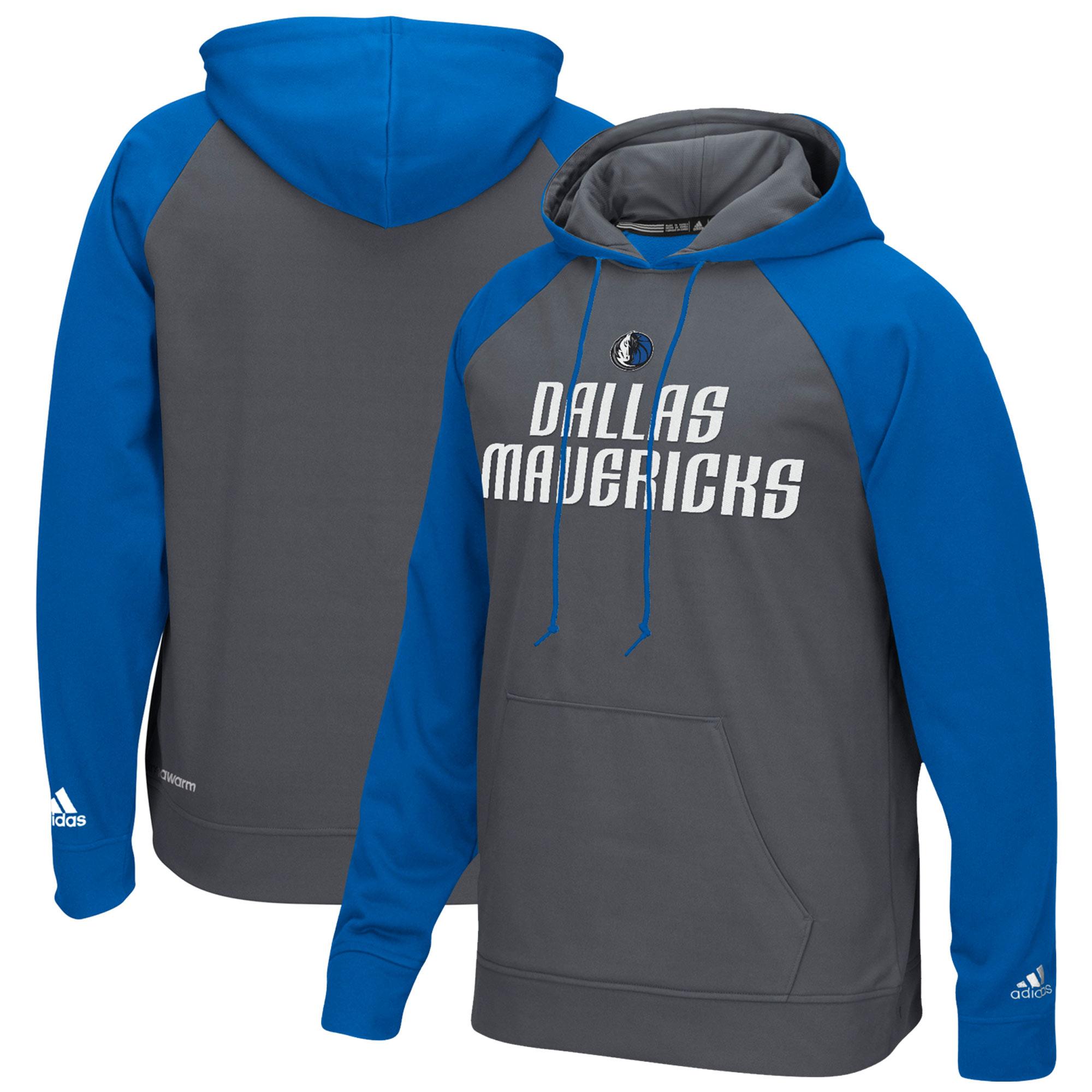 Dallas Mavericks adidas 2016 Tip-Off Pullover Hoodie - Gray/Blue