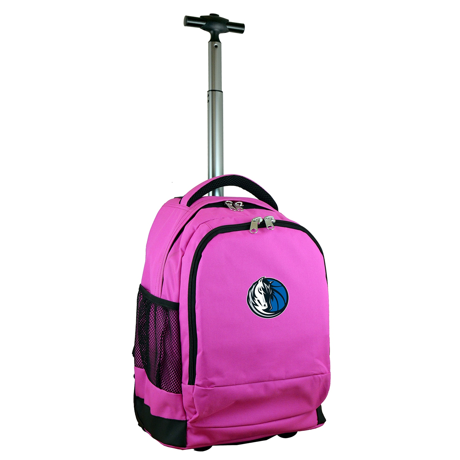 Dallas Mavericks 19'' Premium Wheeled Backpack - Pink