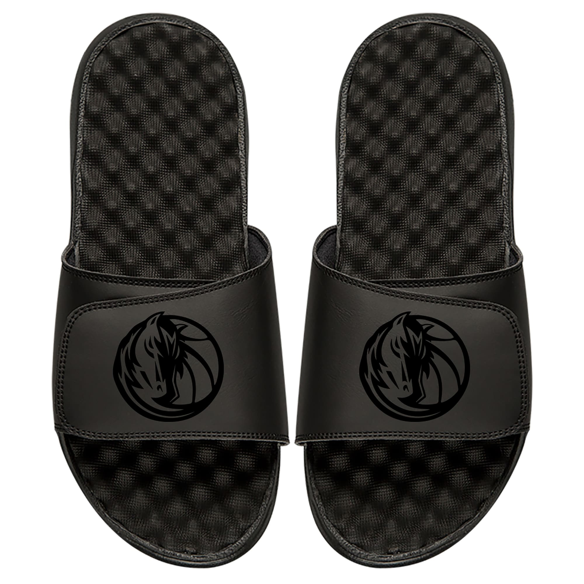 Dallas Mavericks ISlide Youth Tonal Slide Sandals - Black